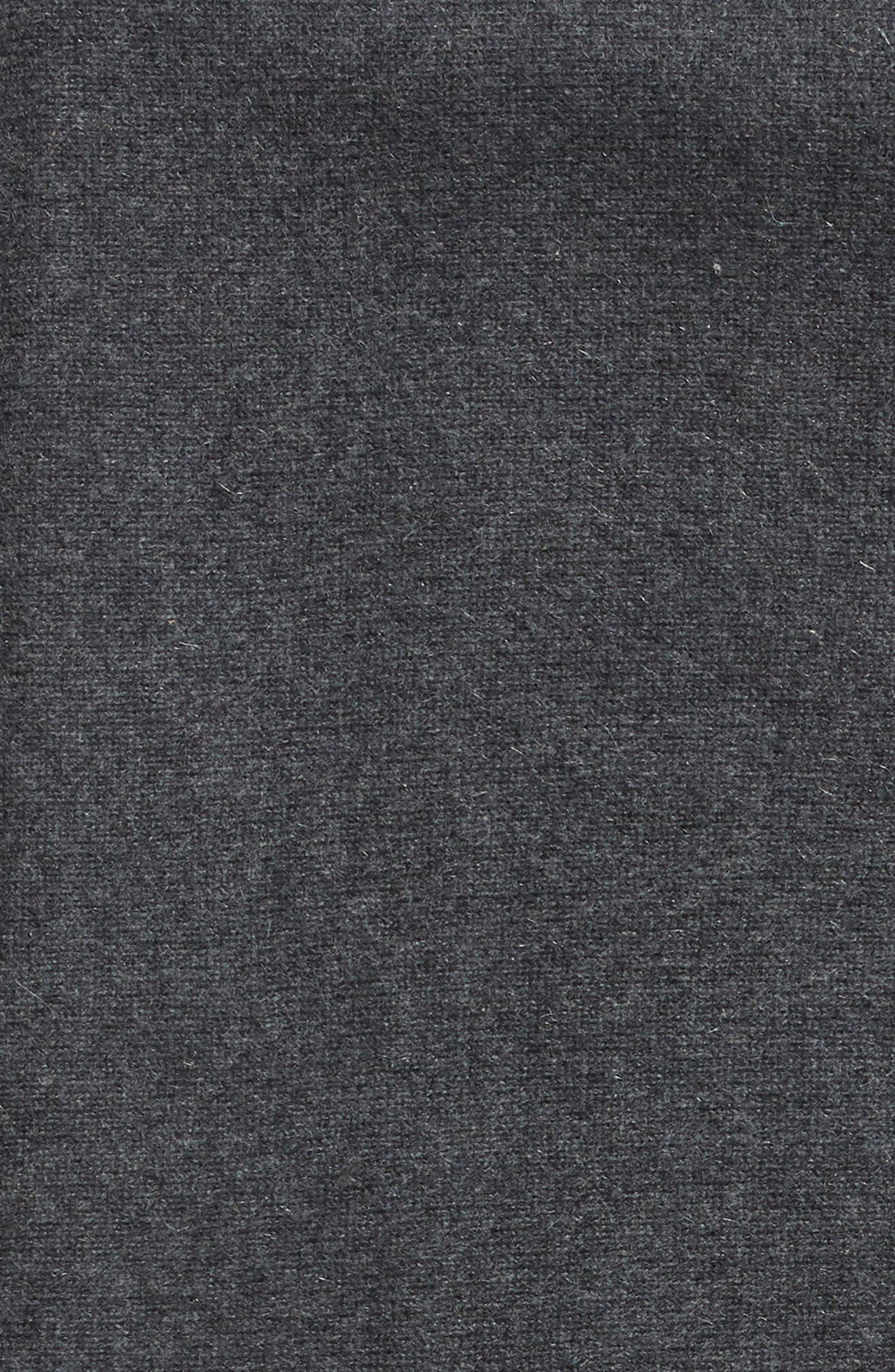 NORDSTROM SIGNATURE, Double Knit Cashmere Throw, Alternate thumbnail 2, color, GREY CLAY HEATHER