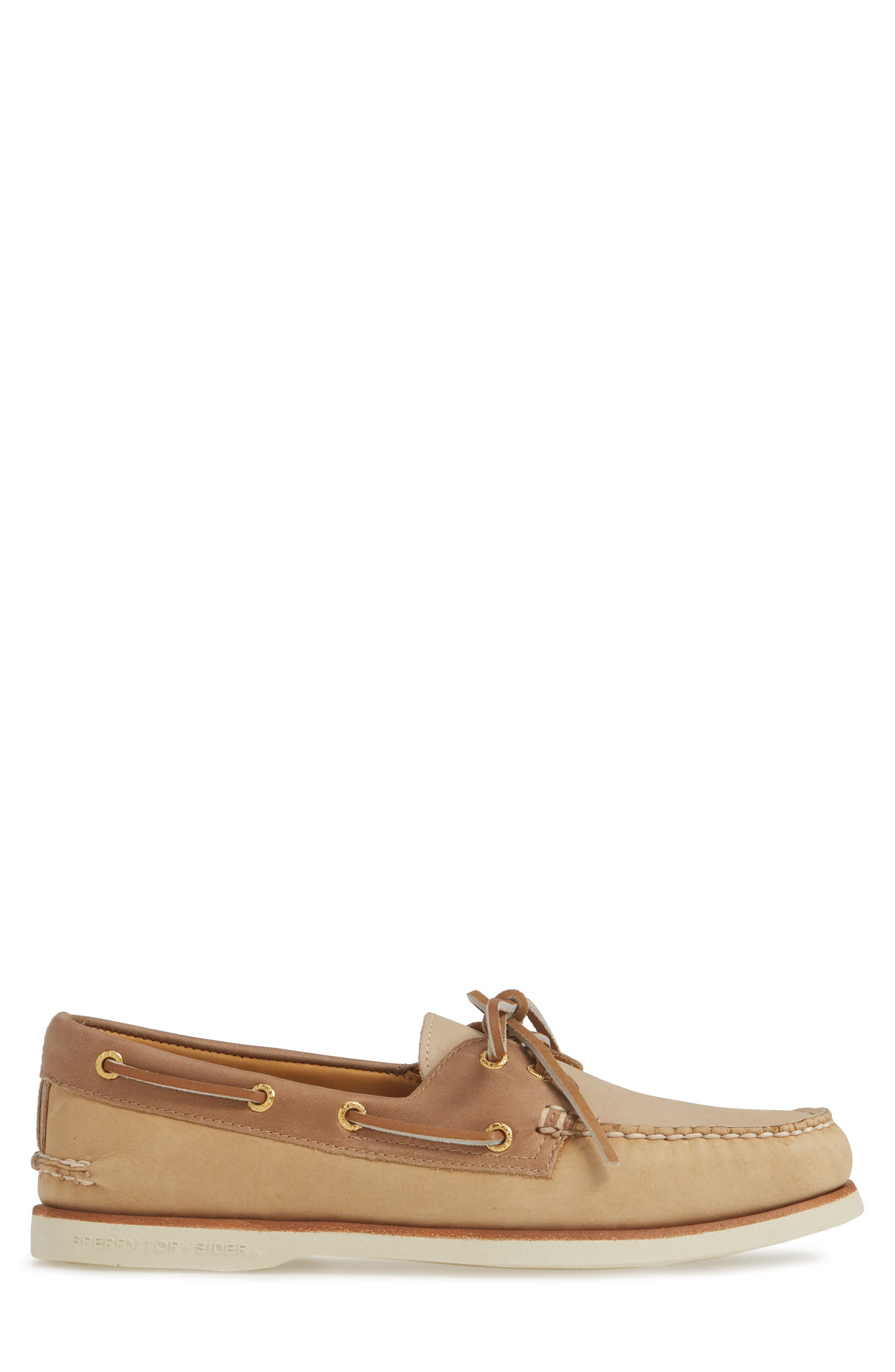 SPERRY, Gold Cup Authentic Original Boat Shoe, Alternate thumbnail 3, color, TAN/ BROWN/ CREAM LEATHER