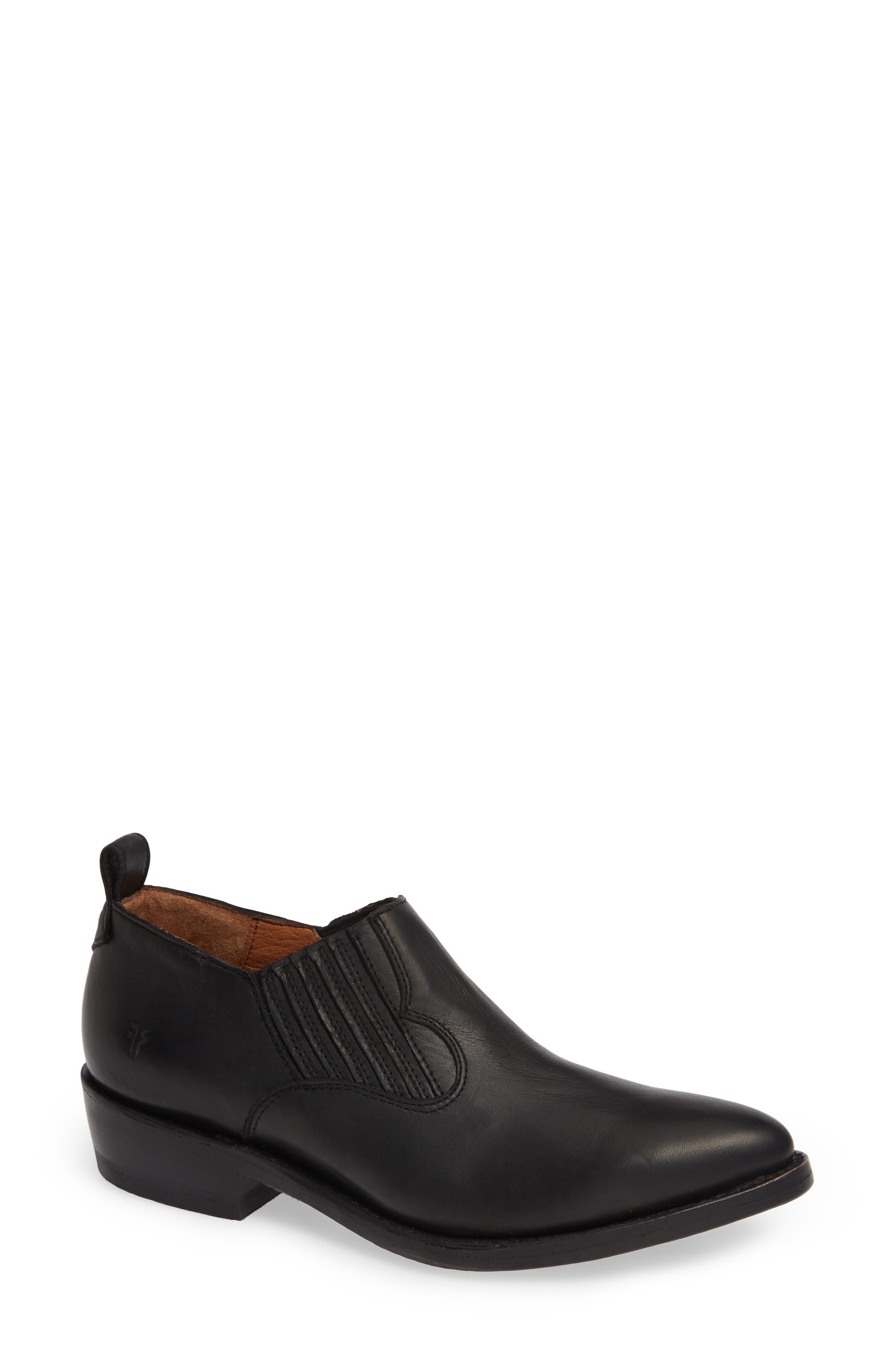 FRYE Billy Shootie, Main, color, BLACK LEATHER