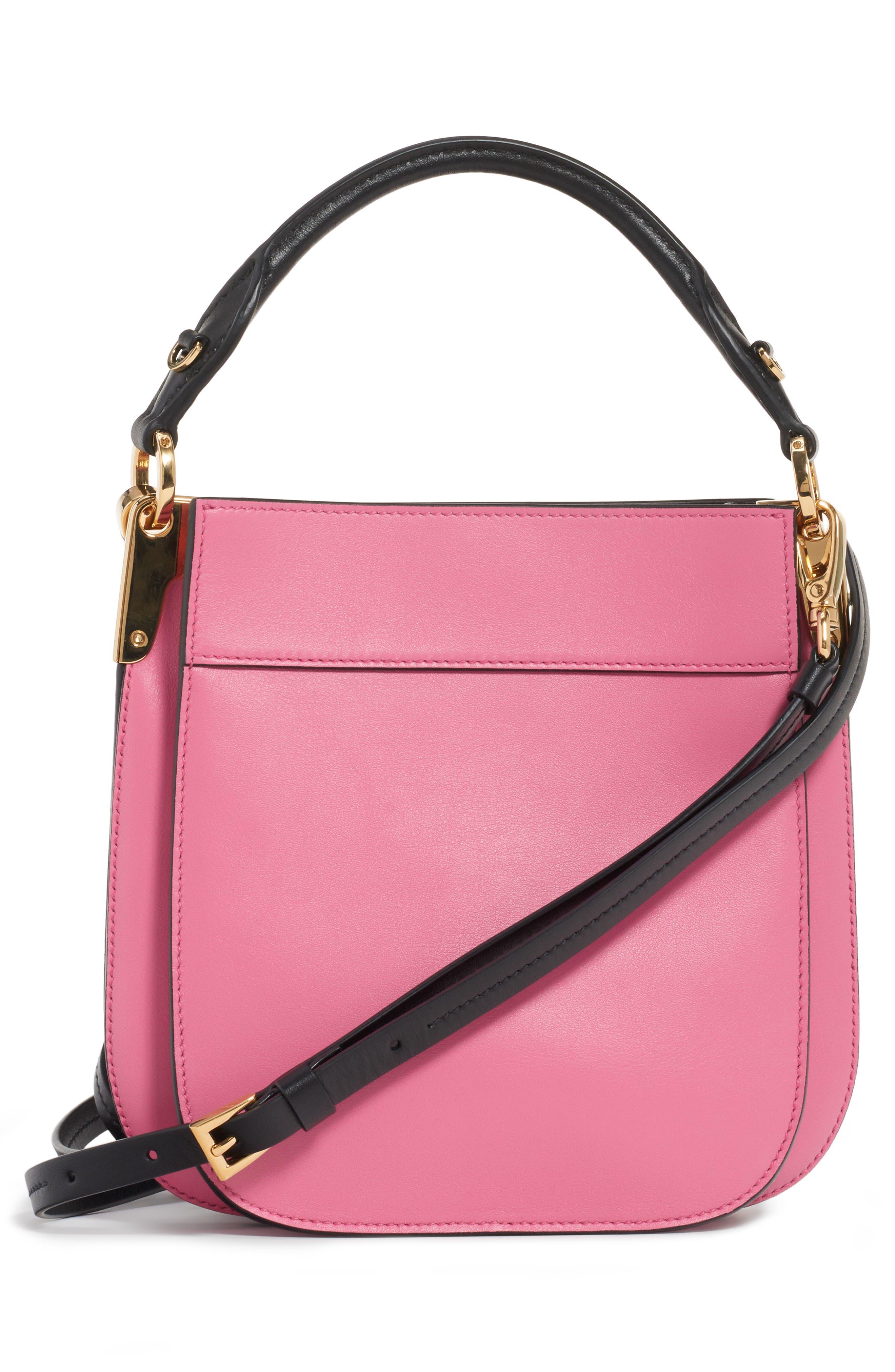 PRADA, Large Margit Shoulder Bag, Alternate thumbnail 2, color, BEGONIA/ NERO