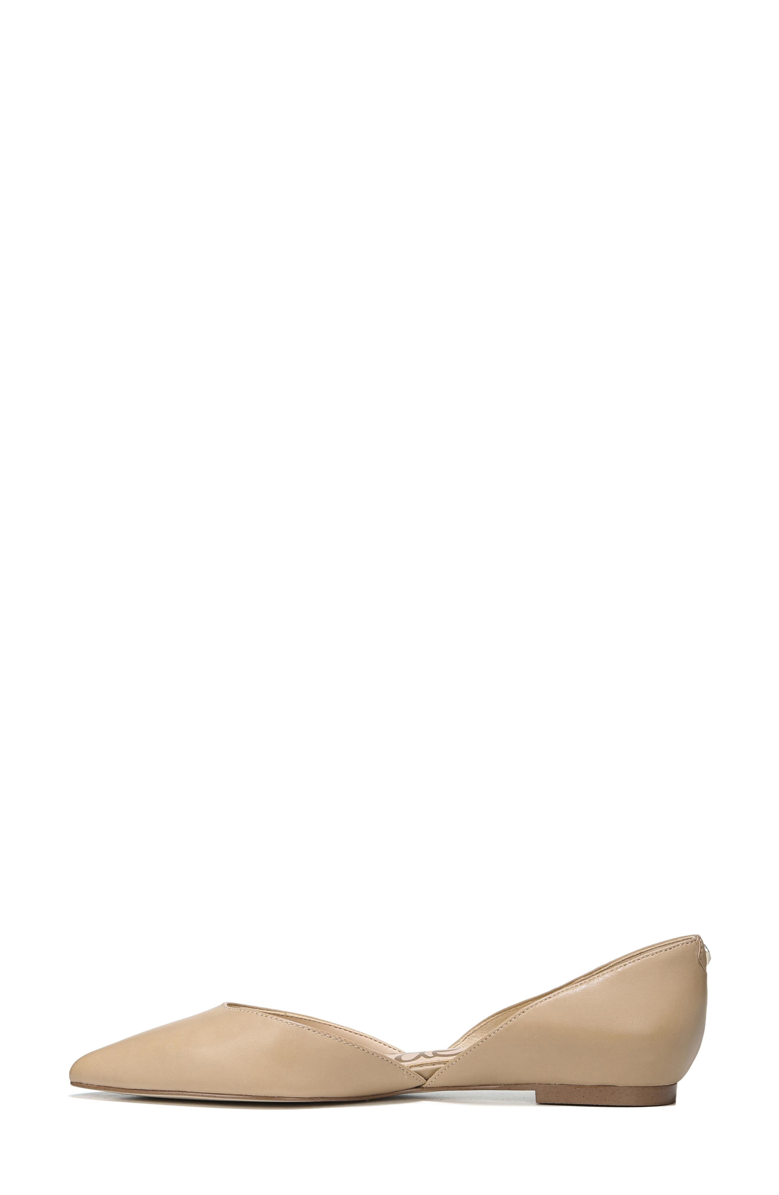 SAM EDELMAN, Rodney Pointy Toe d'Orsay Flat, Alternate thumbnail 9, color, CLASSIC NUDE LEATHER