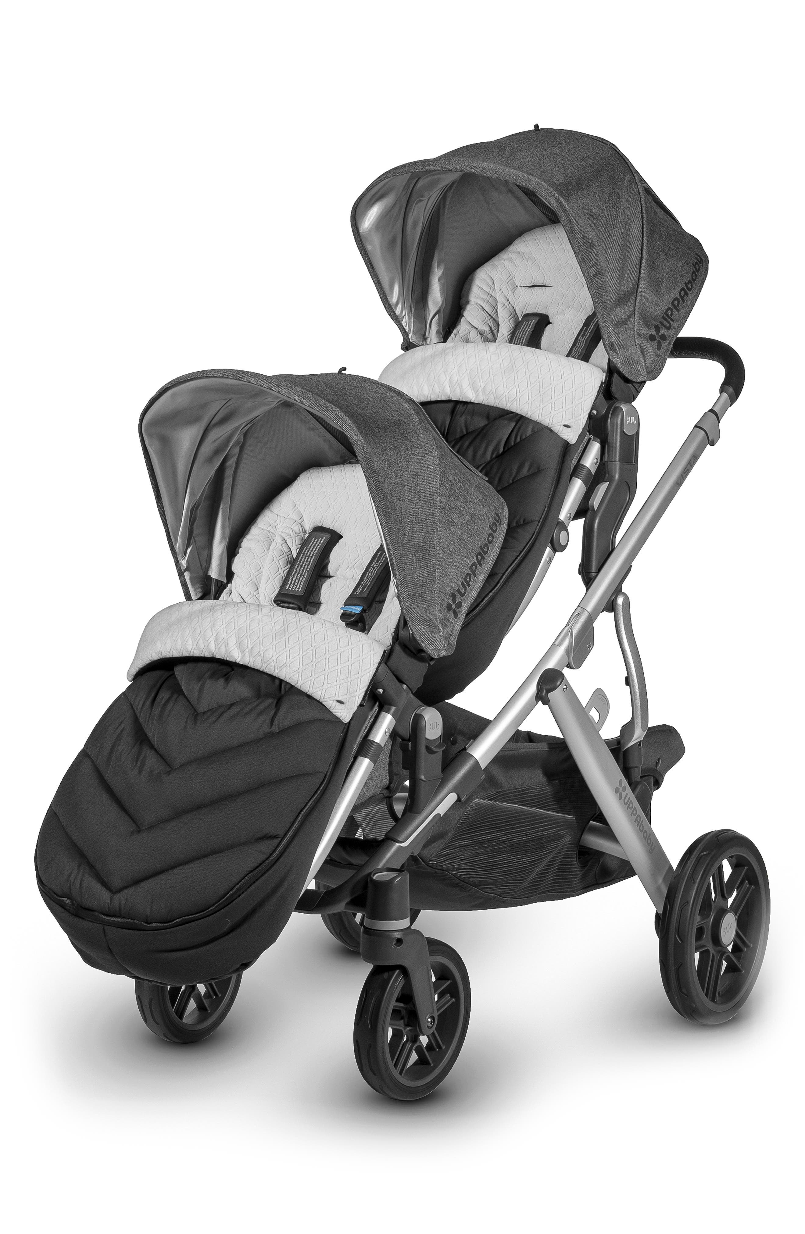 UPPABABY, Ganoosh Water Repellent & Insulated Stroller Footmuff for UPPAbaby RumbleSeat, Main thumbnail 1, color, JAKE BLACK