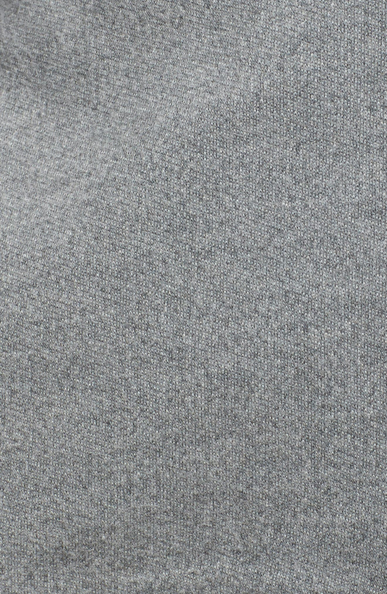 UGG<SUP>®</SUP>, Clara Zip Hoodie, Alternate thumbnail 5, color, GREY HEATHER