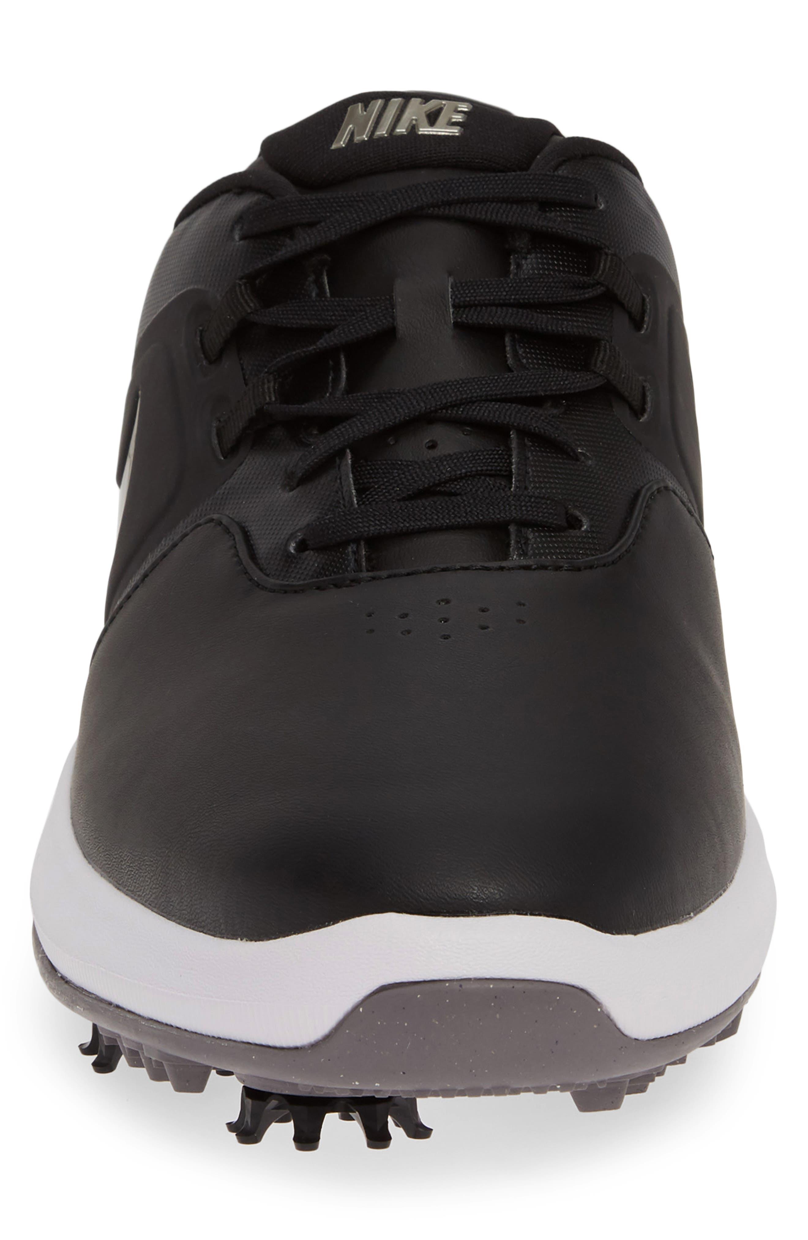 NIKE, Air Zoom Victory Golf Shoe, Alternate thumbnail 4, color, BLACK/ PEWTER/ VAST GREY