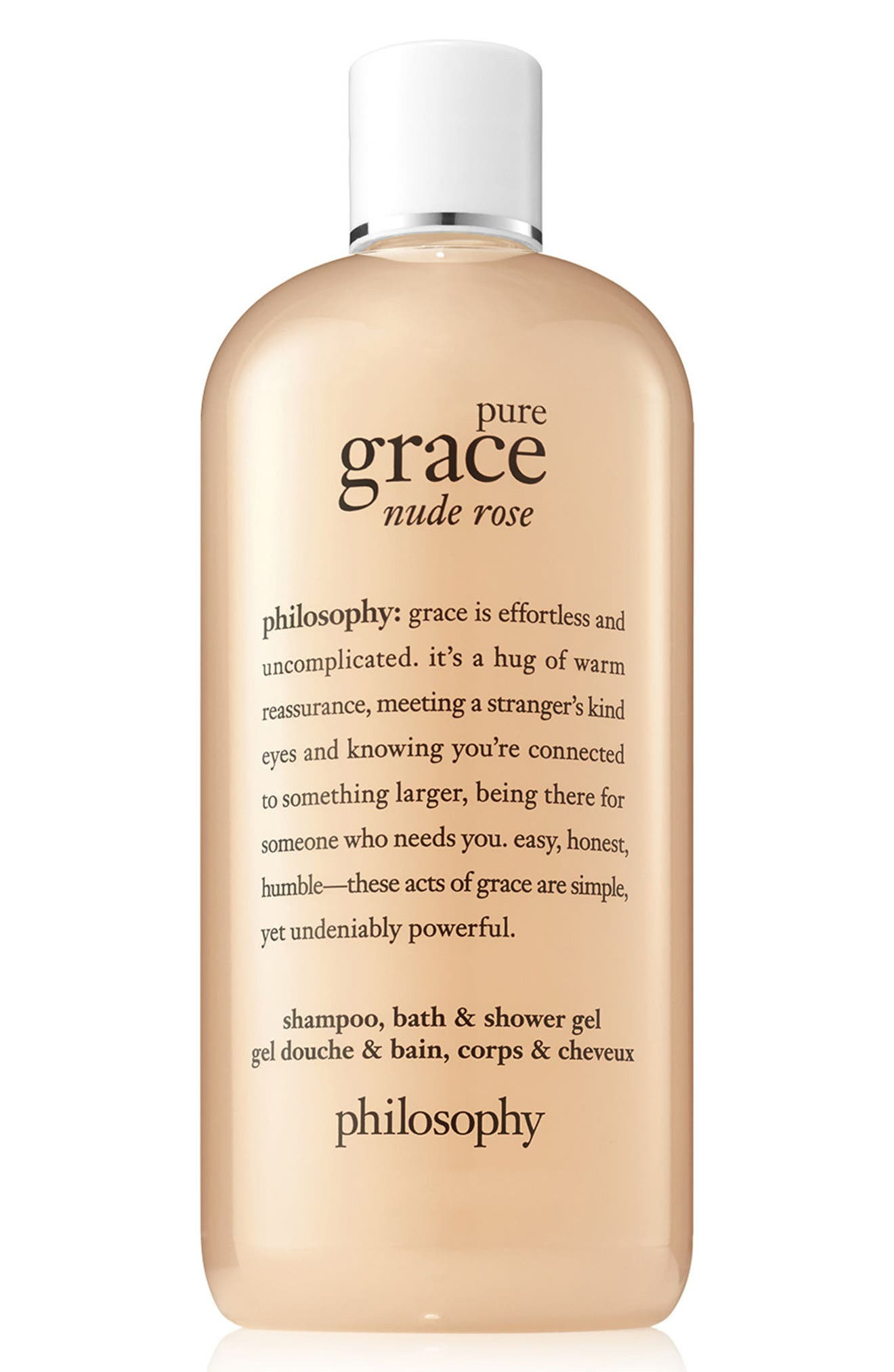 PHILOSOPHY, pure grace nude rose shampoo, bath & shower gel, Main thumbnail 1, color, NO COLOR