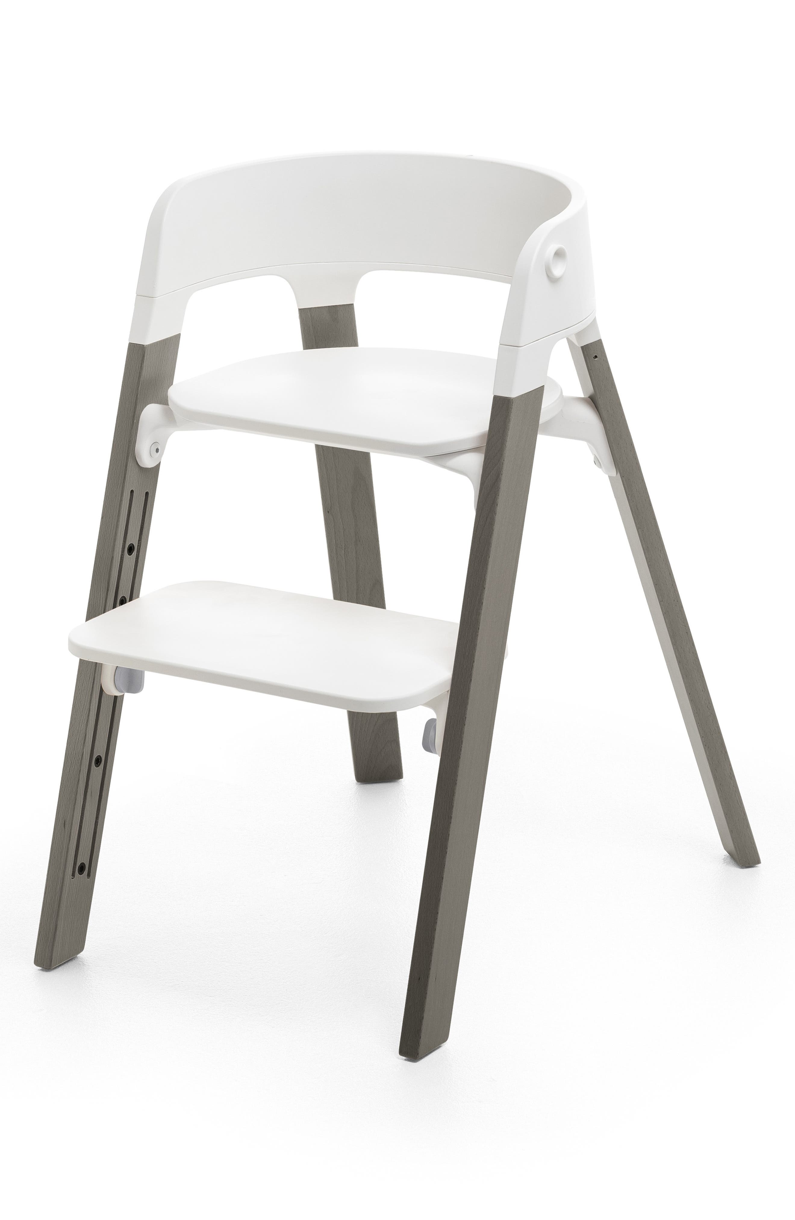 STOKKE, Steps<sup>™</sup> High Chair & Tray, Alternate thumbnail 3, color, GREY