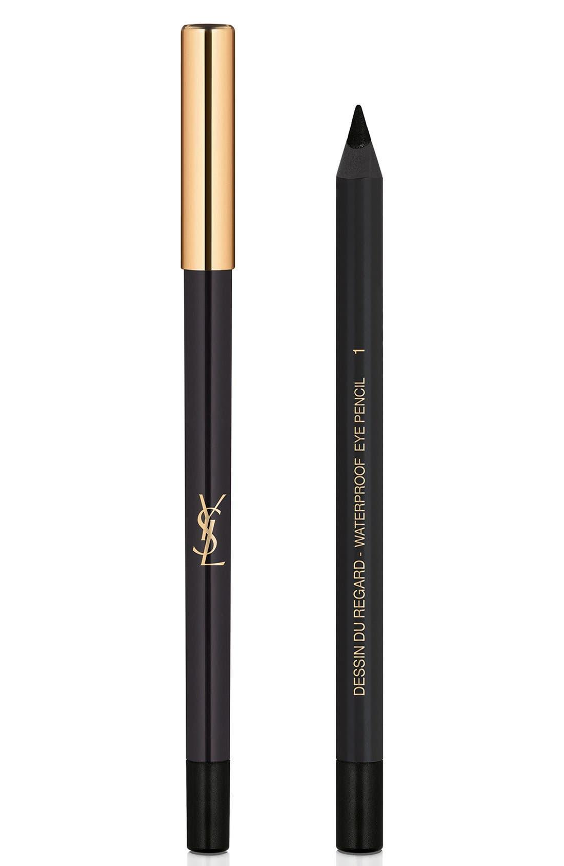 YVES SAINT LAURENT Dessin du Regard Waterproof Eyeliner Pencil, Main, color, 01 BLACK