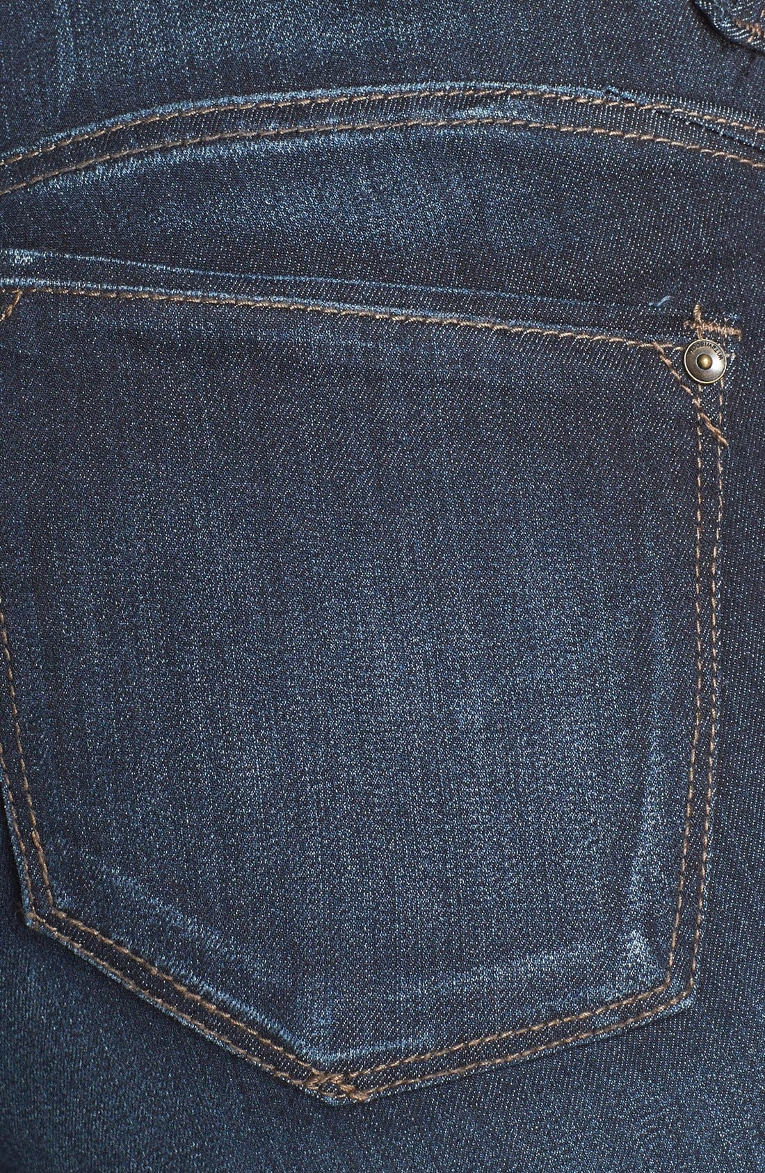 WIT & WISDOM, 'Super Smooth' Stretch Skinny Jeans, Alternate thumbnail 4, color, DARK NAVY