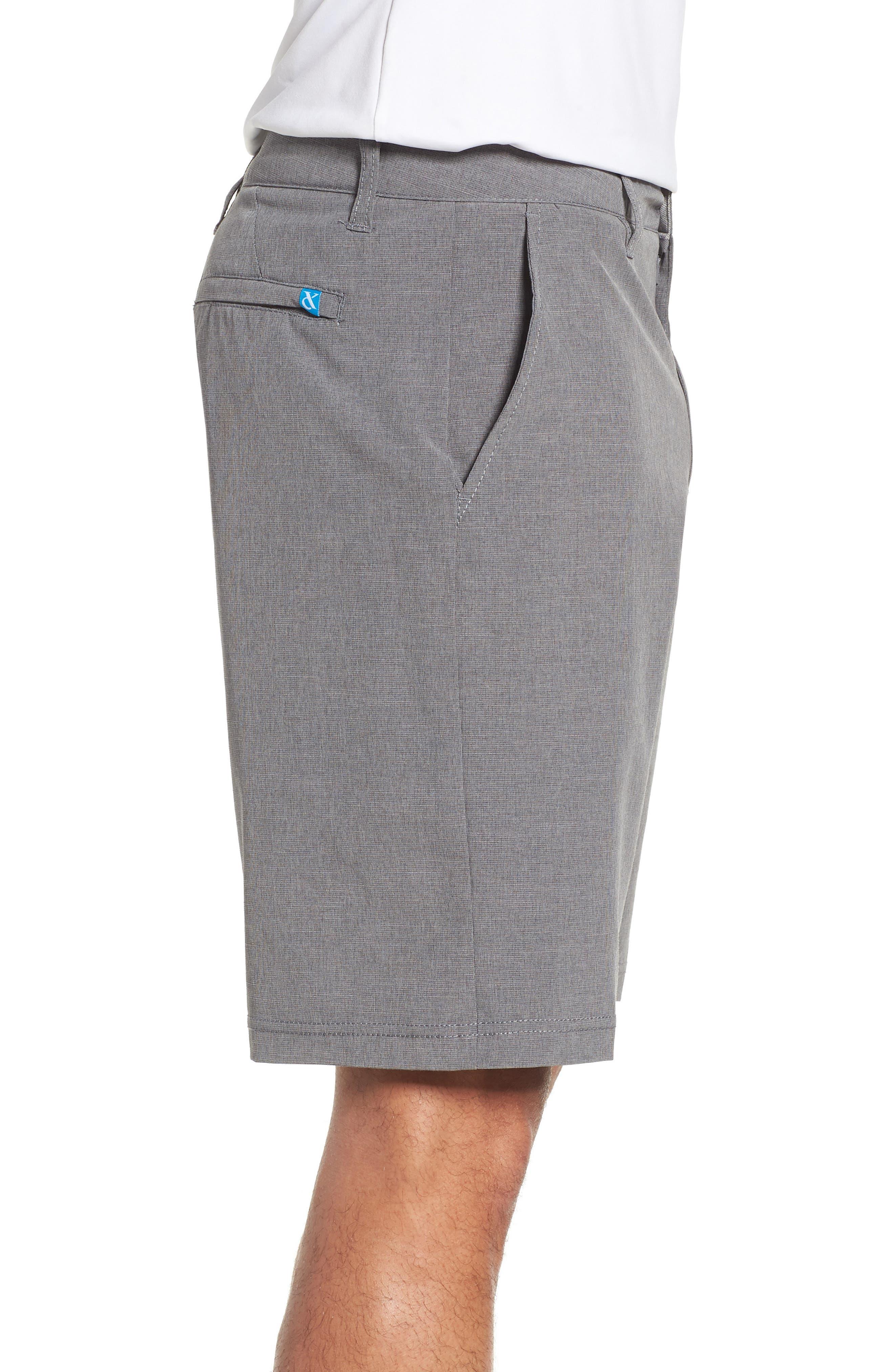 DEVEREUX, Cruiser Hybrid Shorts, Alternate thumbnail 3, color, CHARCOAL