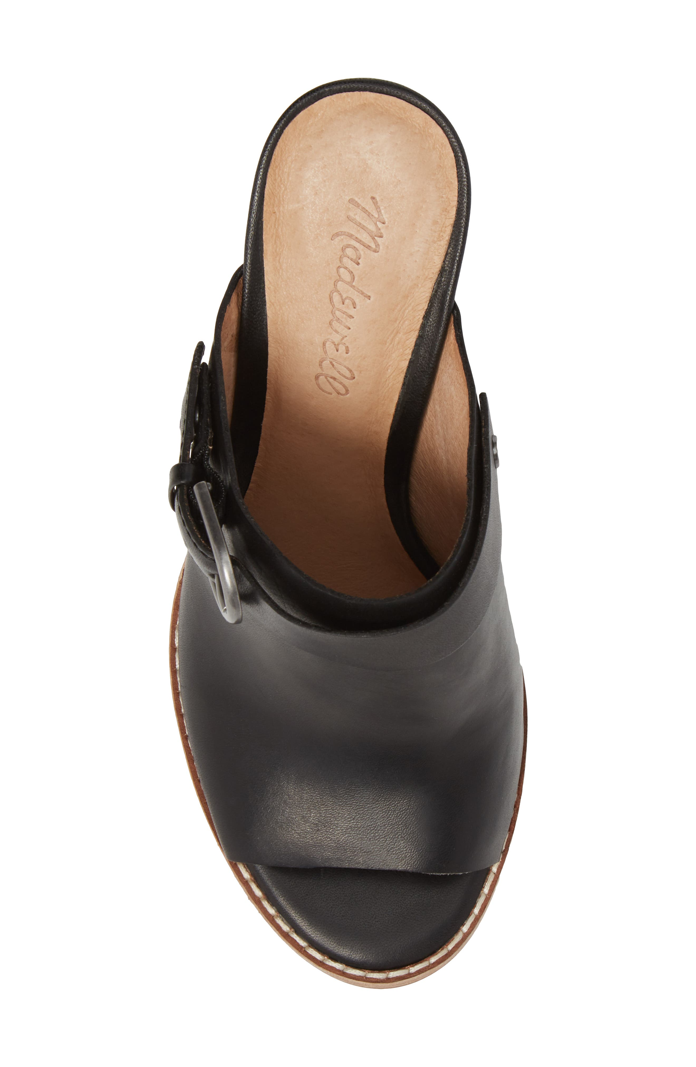 MADEWELL, Riley Slingback Mule, Alternate thumbnail 5, color, TRUE BLACK LEATHER