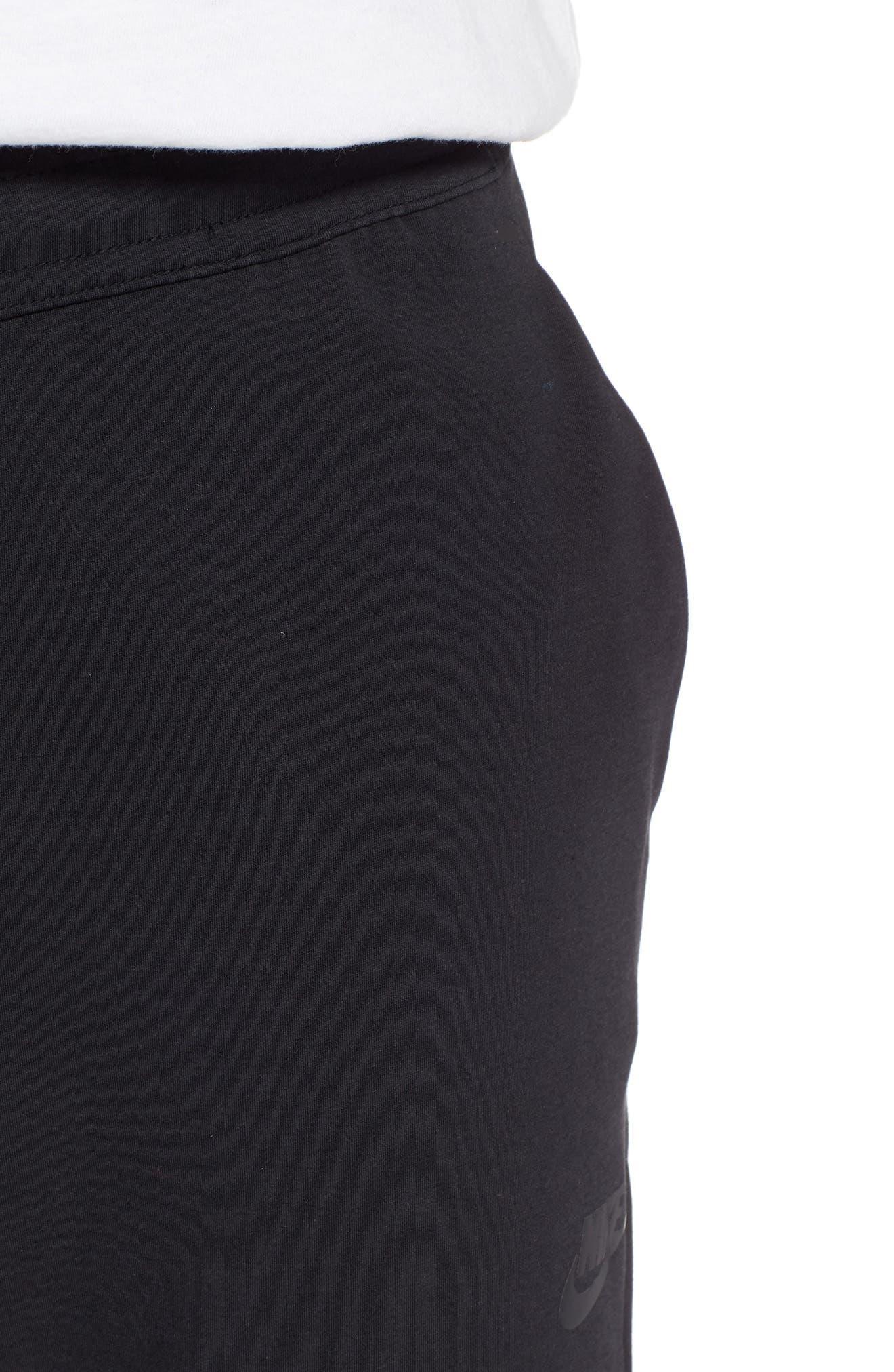 NIKE, Tech Knit Jogger Pants, Alternate thumbnail 5, color, BLACK/ BLACK