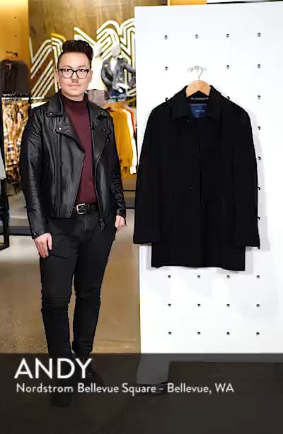 Italian Wool Blend Overcoat, sales video thumbnail