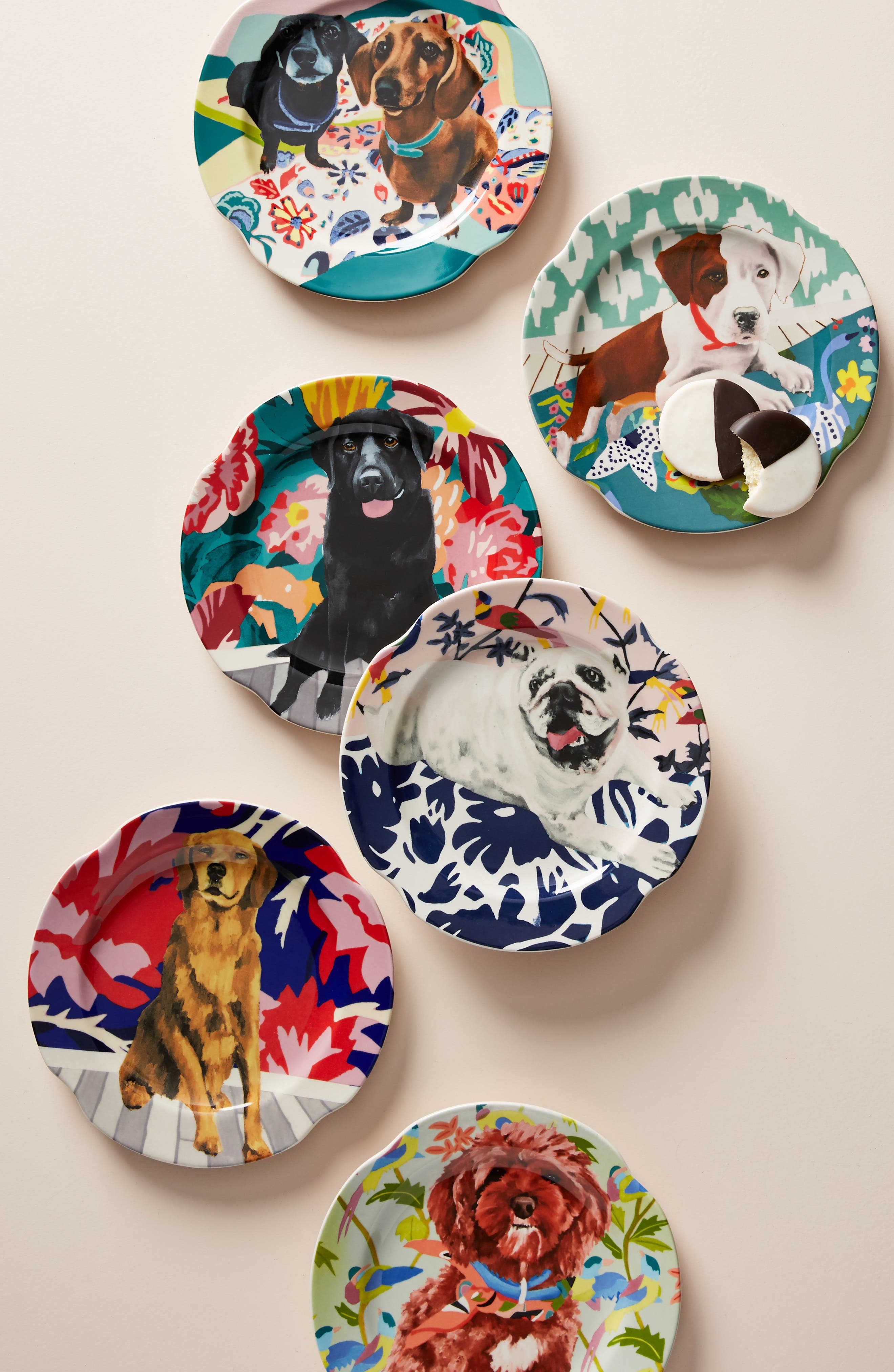 ANTHROPOLOGIE Jay McClellan Side Plate, Main, color, SAPPHIRE