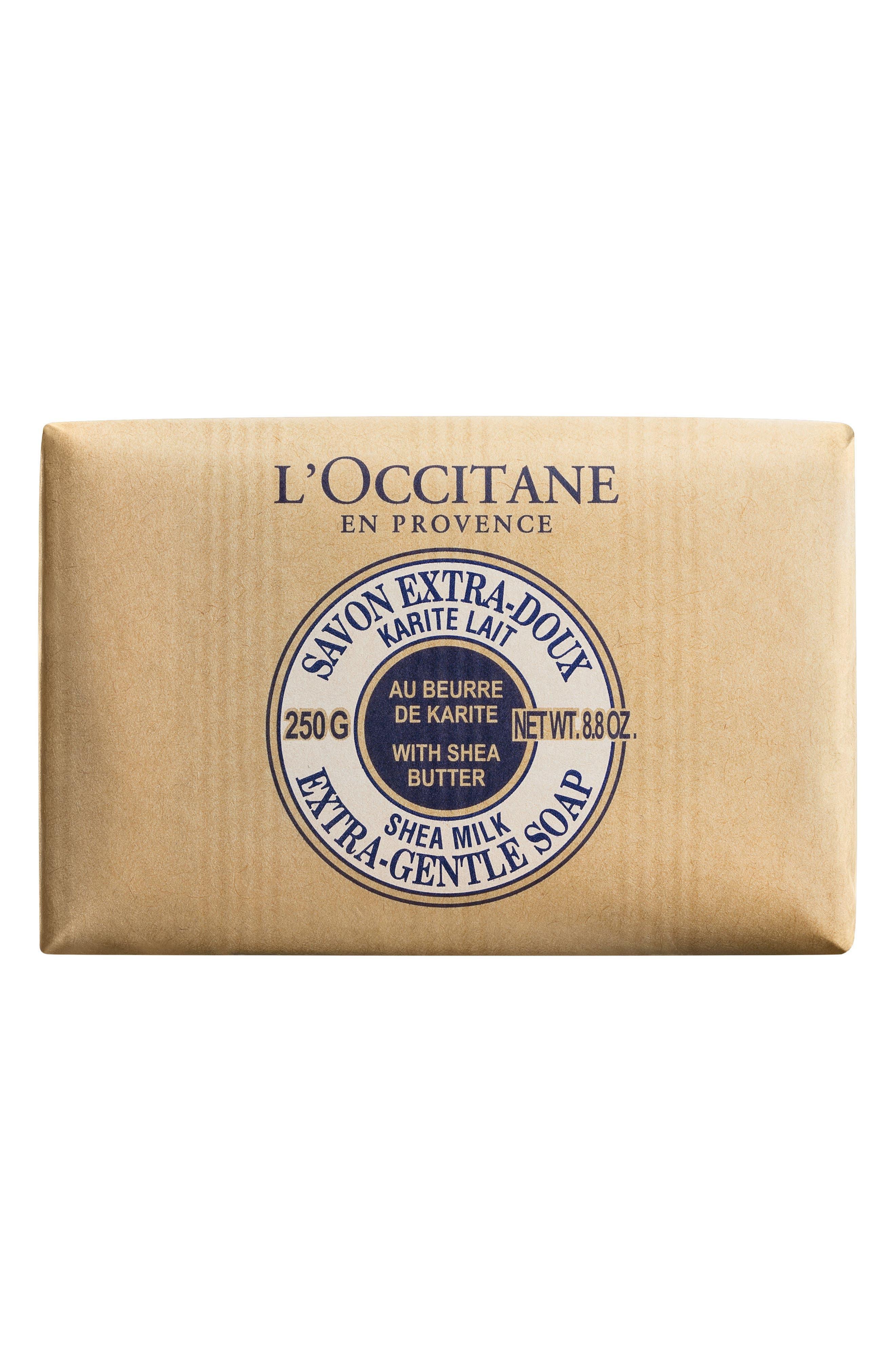 L'OCCITANE, Milk Shea Butter Extra Gentle Soap, Main thumbnail 1, color, NO COLOR