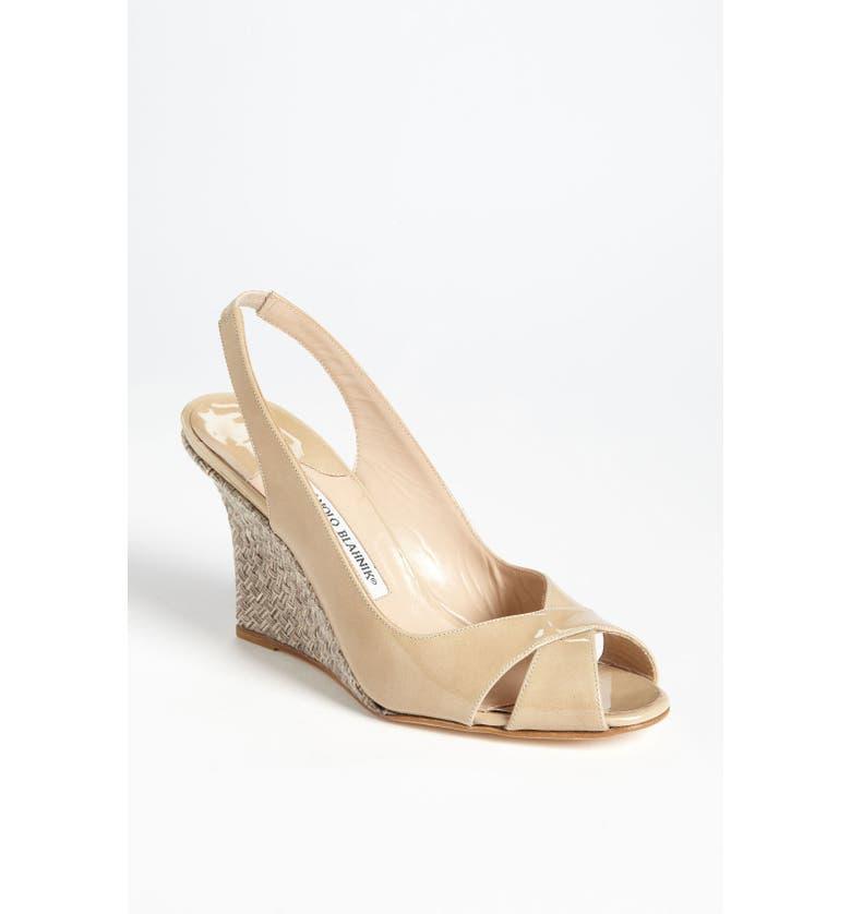 482d8bec270f8 MANOLO BLAHNIK 'Shala' Wedge Sandal, Main, color, ...
