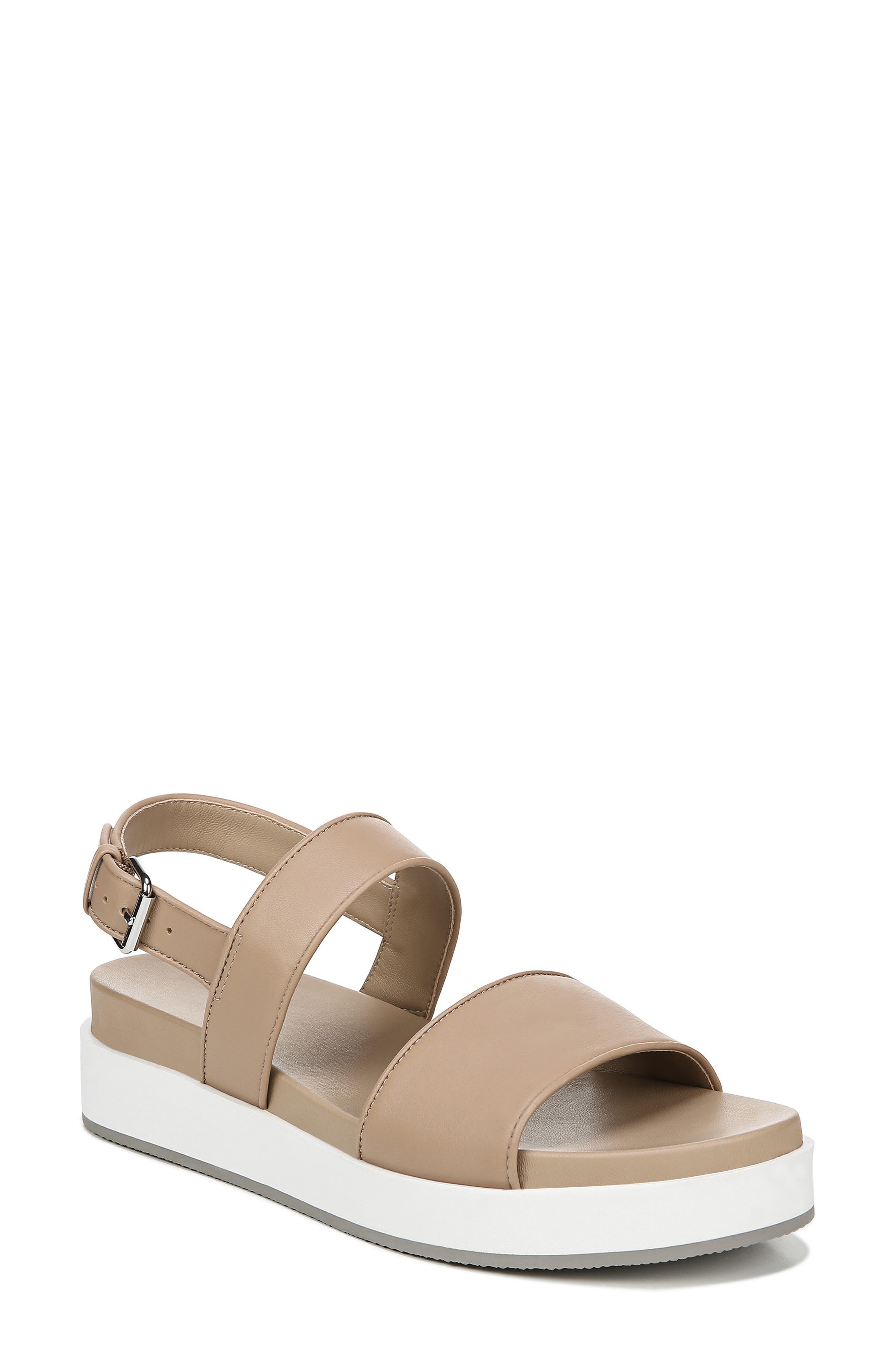 VIA SPIGA Davi Platform Sandal, Main, color, DESERT NAPPA