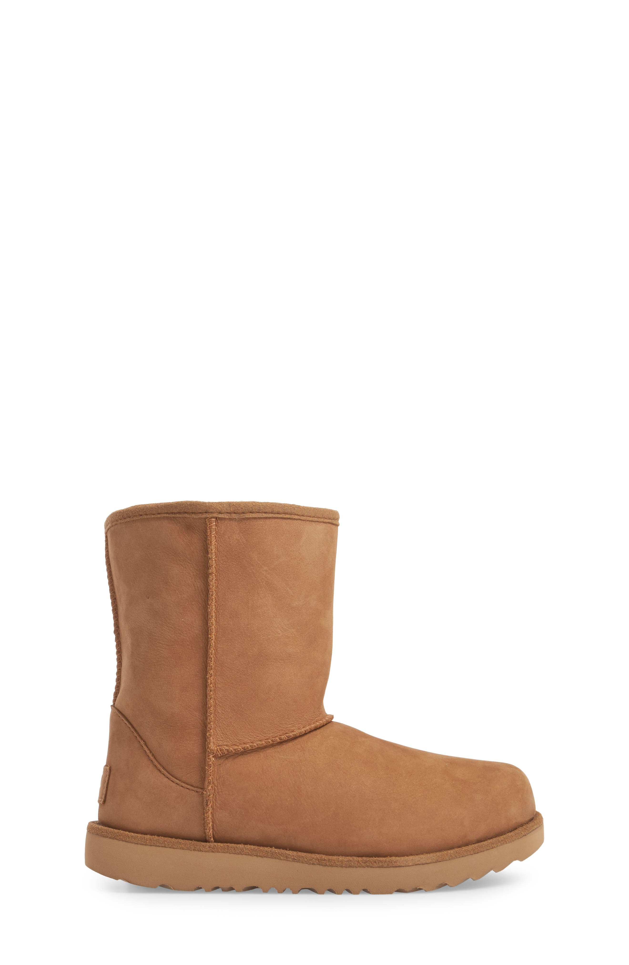 UGG<SUP>®</SUP>, Classic Short II Waterproof Boot, Alternate thumbnail 3, color, CHESTNUT