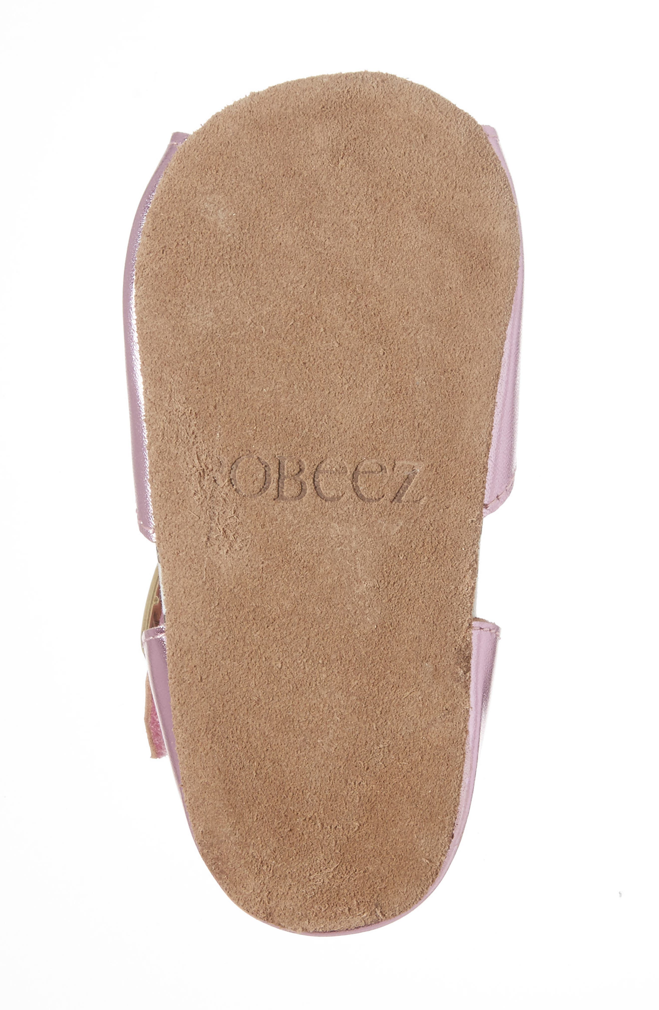 ROBEEZ<SUP>®</SUP>, Sophie Crib Shoe, Alternate thumbnail 6, color, COBBLESTONE