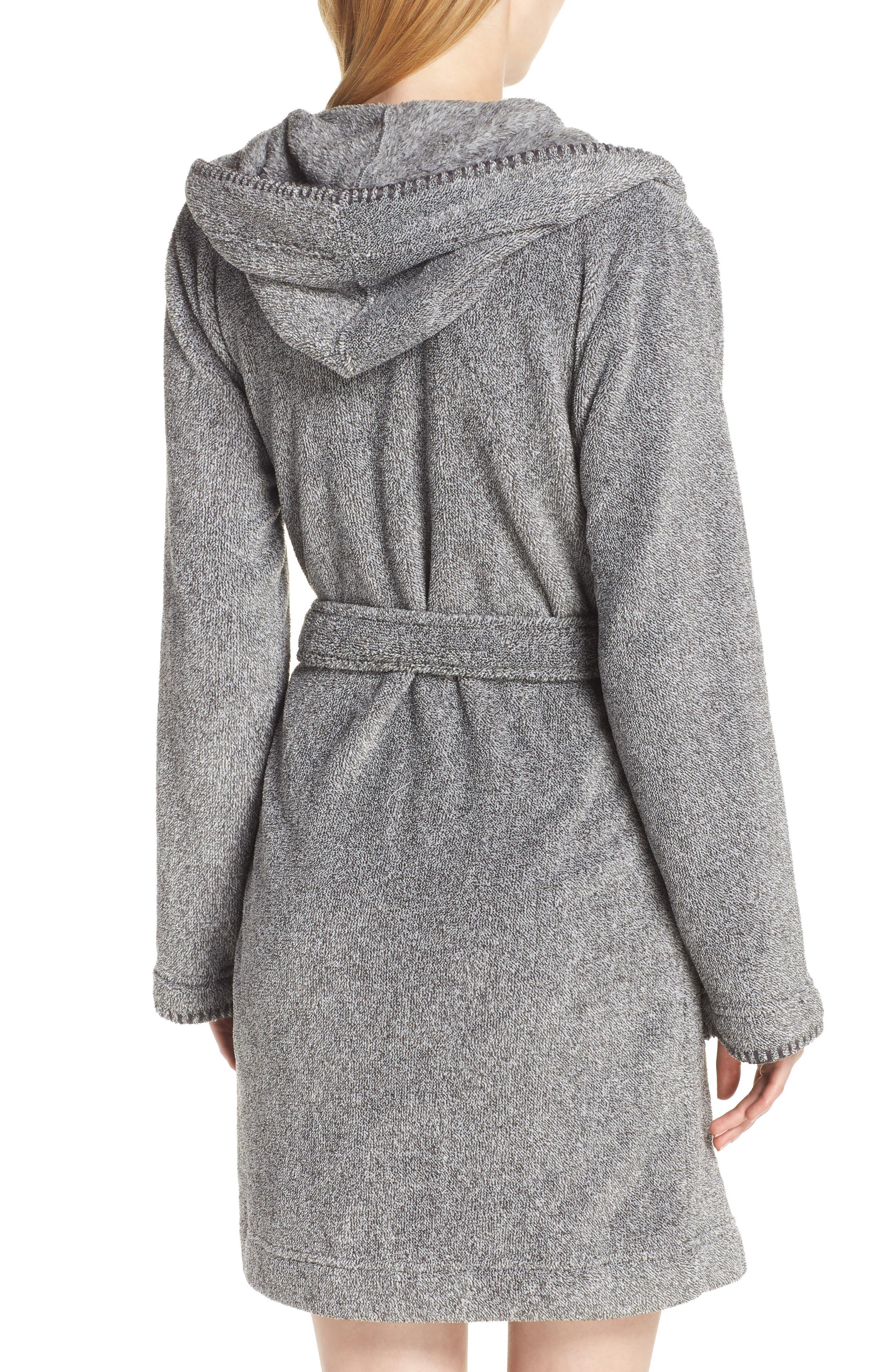 MAKE + MODEL, Starry Night Plush Short Robe, Alternate thumbnail 2, color, 022