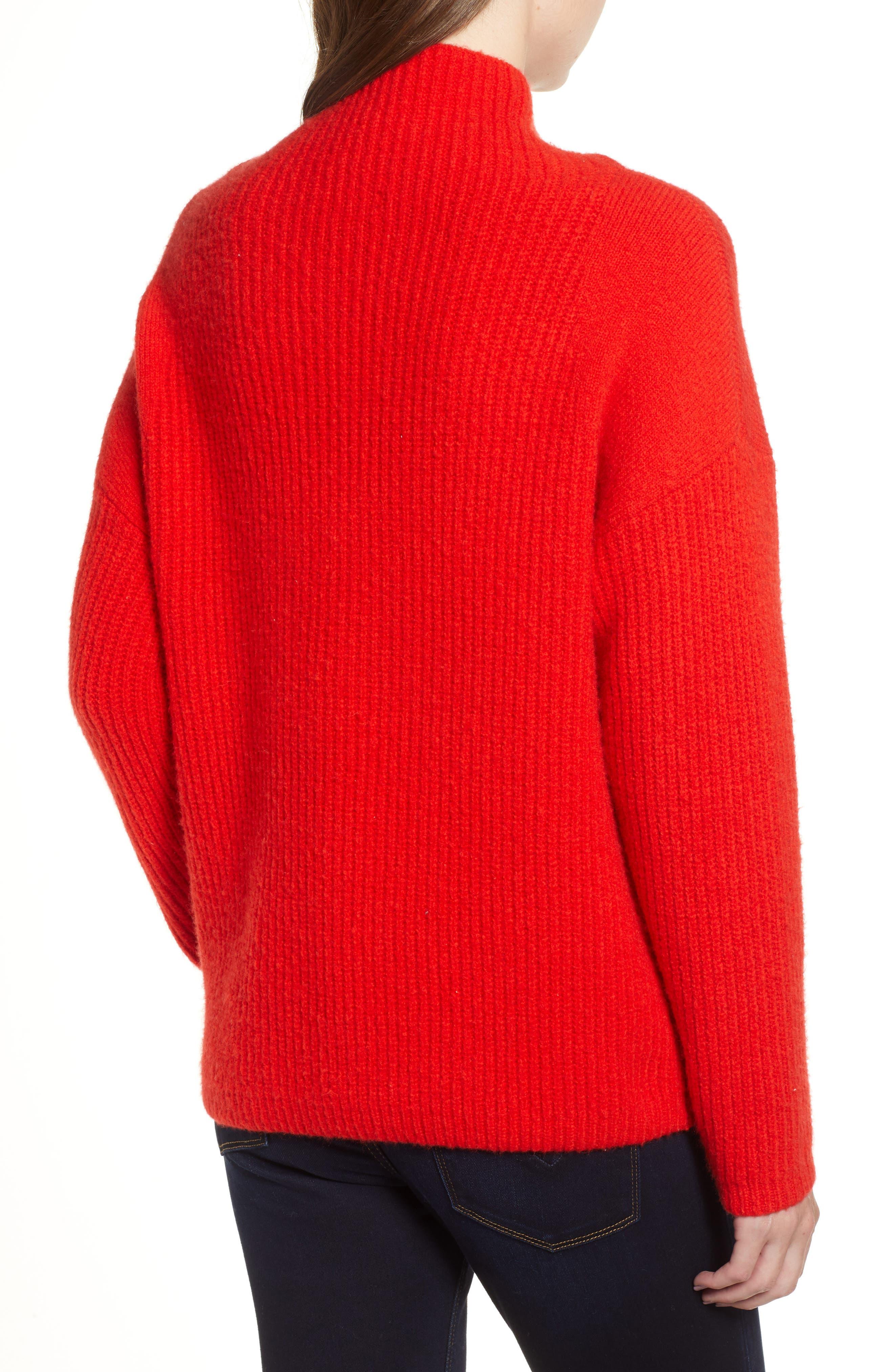 CHELSEA28, Rib Funnel Neck Sweater, Alternate thumbnail 2, color, 610