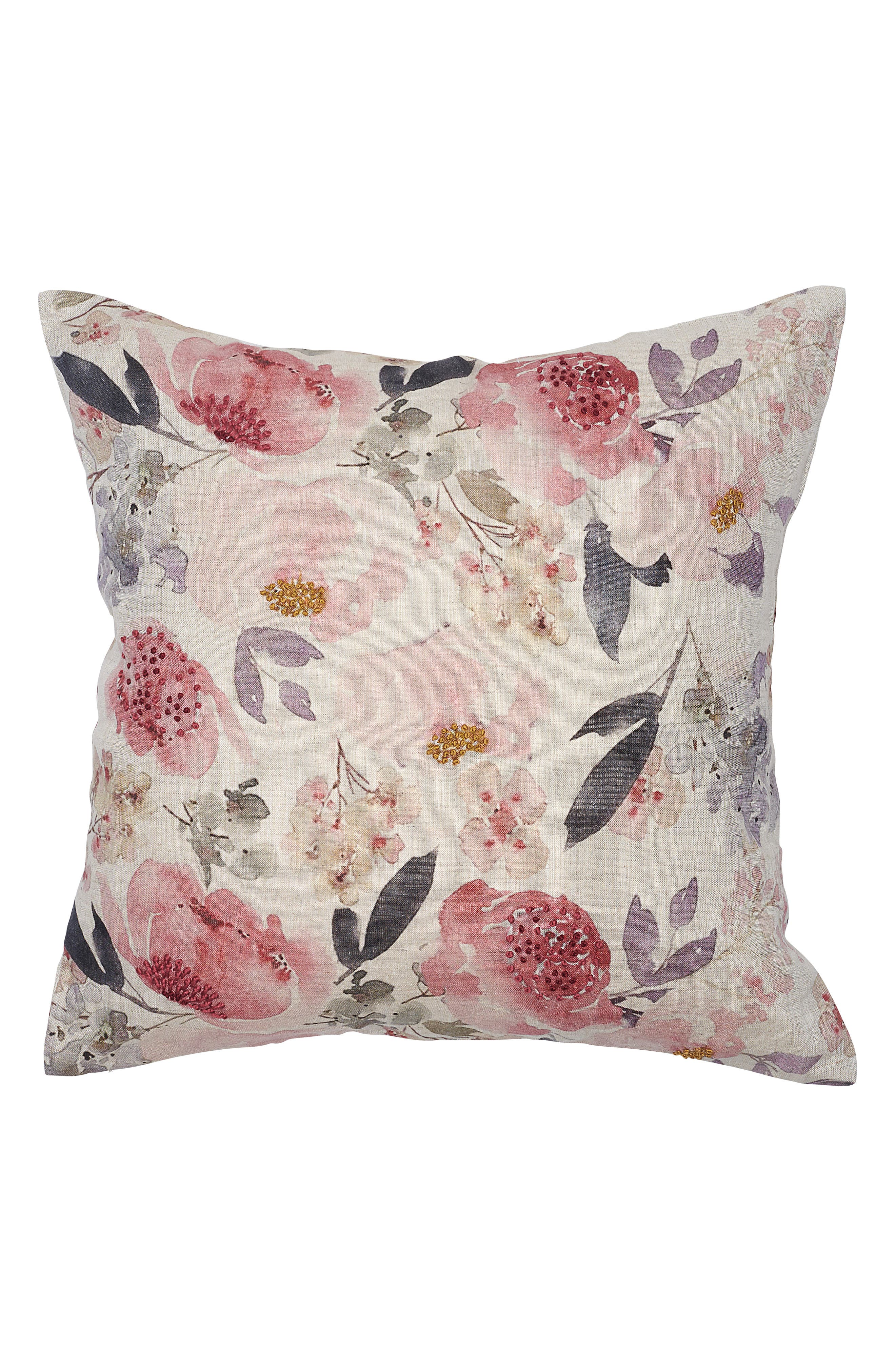 EADIE LIFESTYLE Posy Scatter Accent Pillow, Main, color, MUSK MULTI