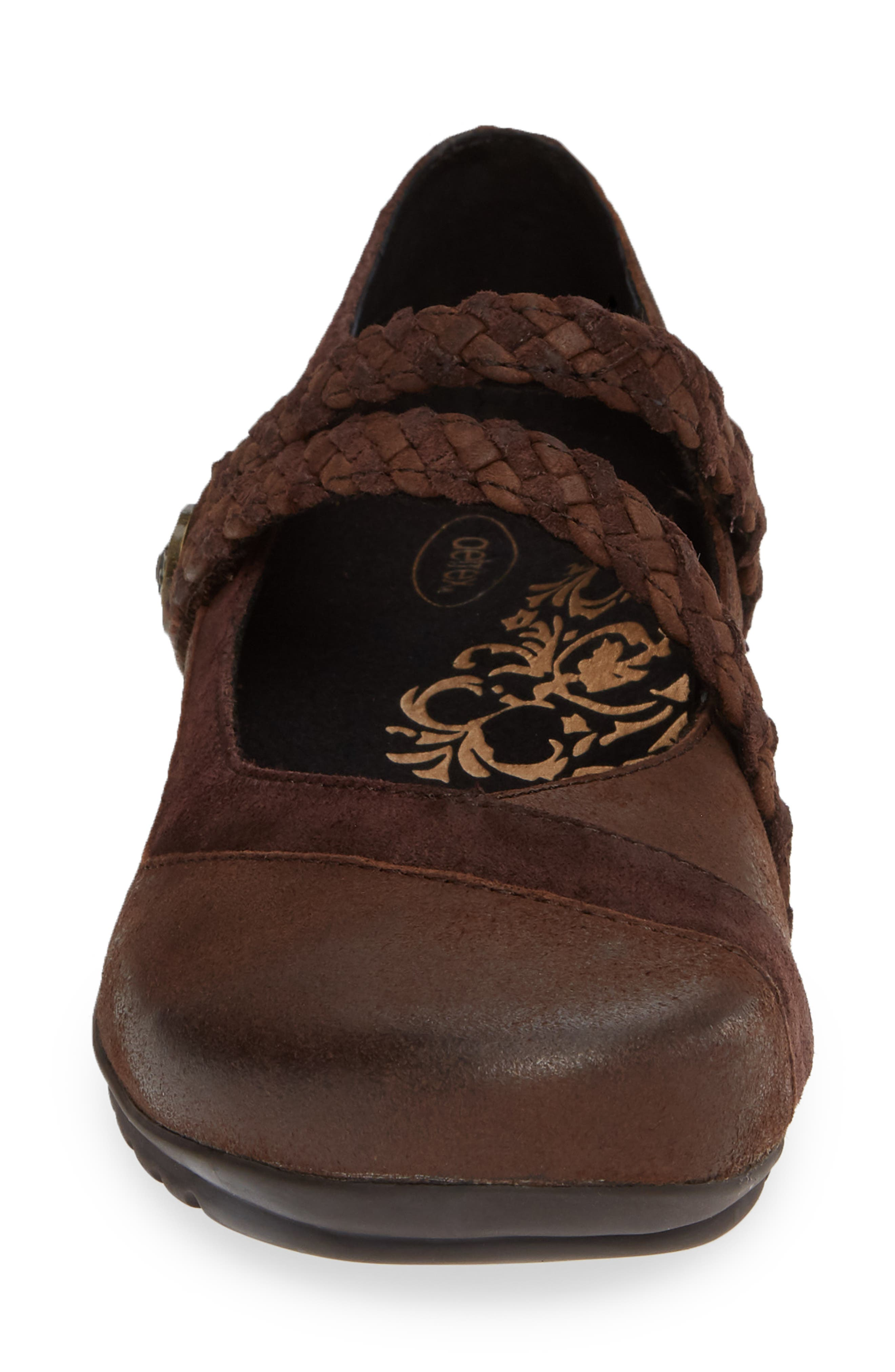 AETREX, 'Ada' Mary Jane, Alternate thumbnail 4, color, CHOCOLATE LEATHER