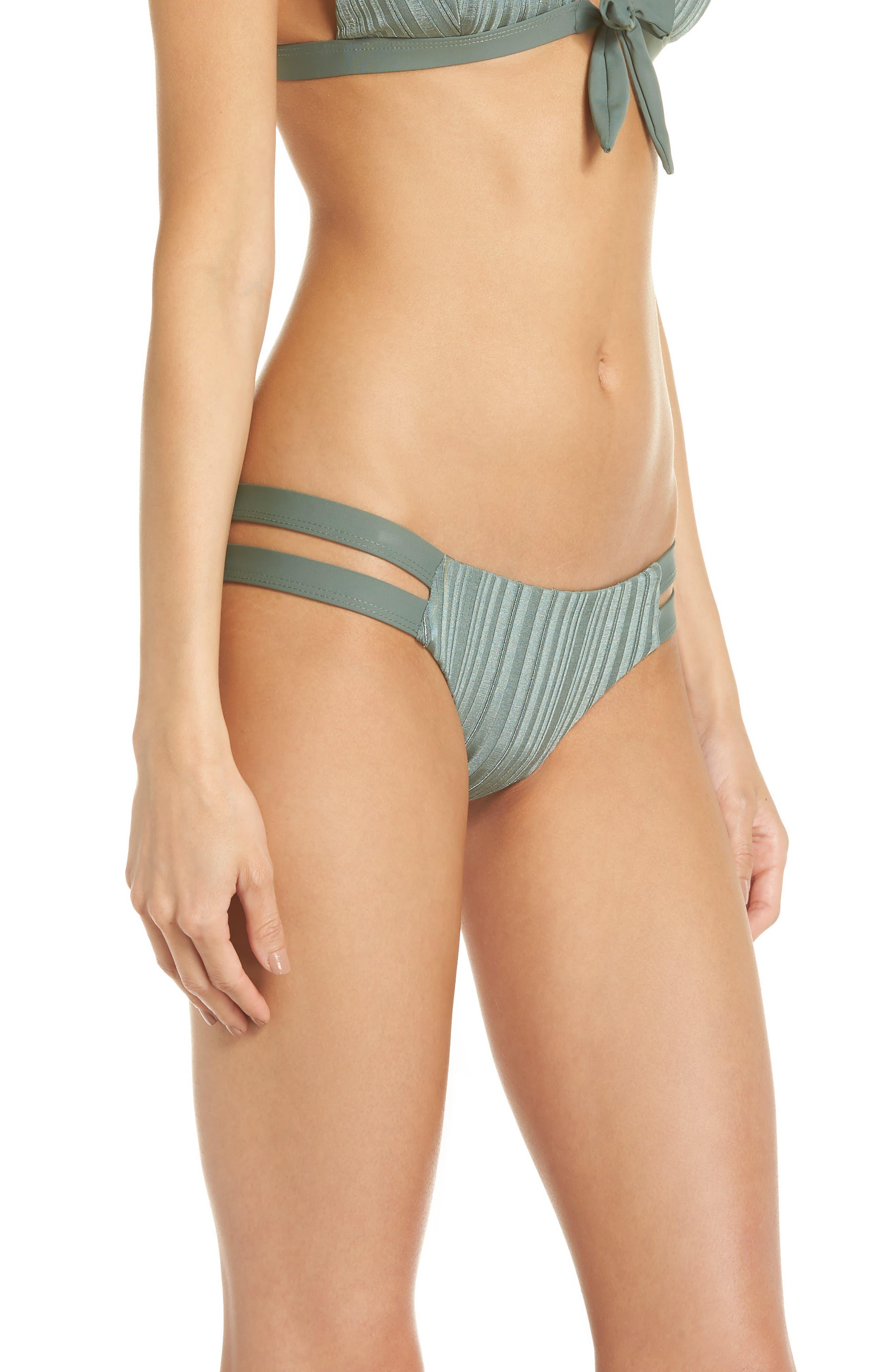 TAVIK, Chloe Bikini Bottoms, Alternate thumbnail 4, color, MEADOW GREEN