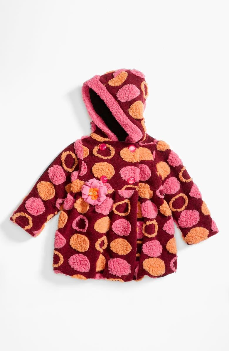 678e125d3a9c Corky & Company Leopard Print Faux Fur Coat (Infant & Toddler ...