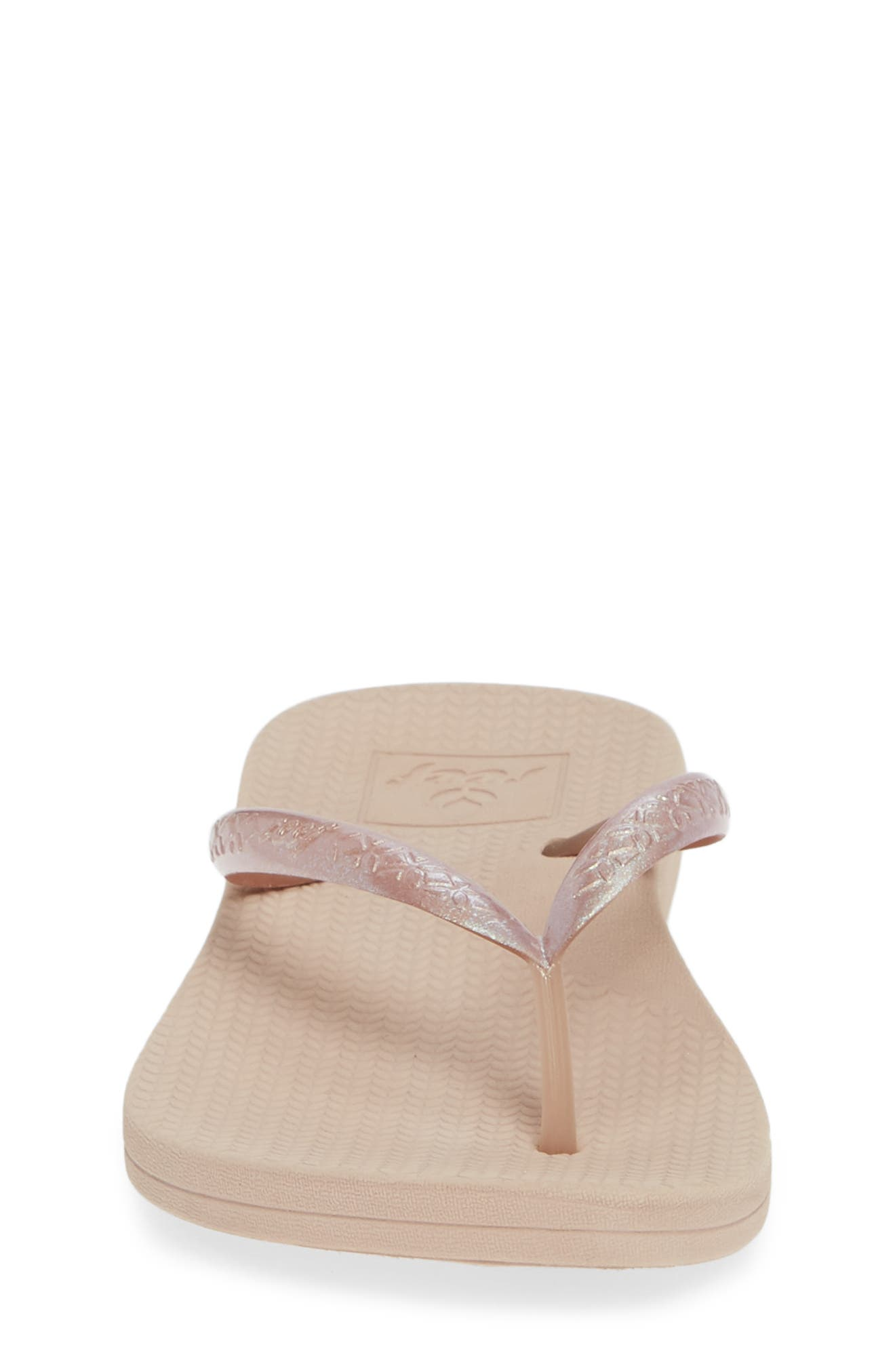 REEF, Escape Lux Metals Flip Flop, Alternate thumbnail 4, color, ROSE GOLD