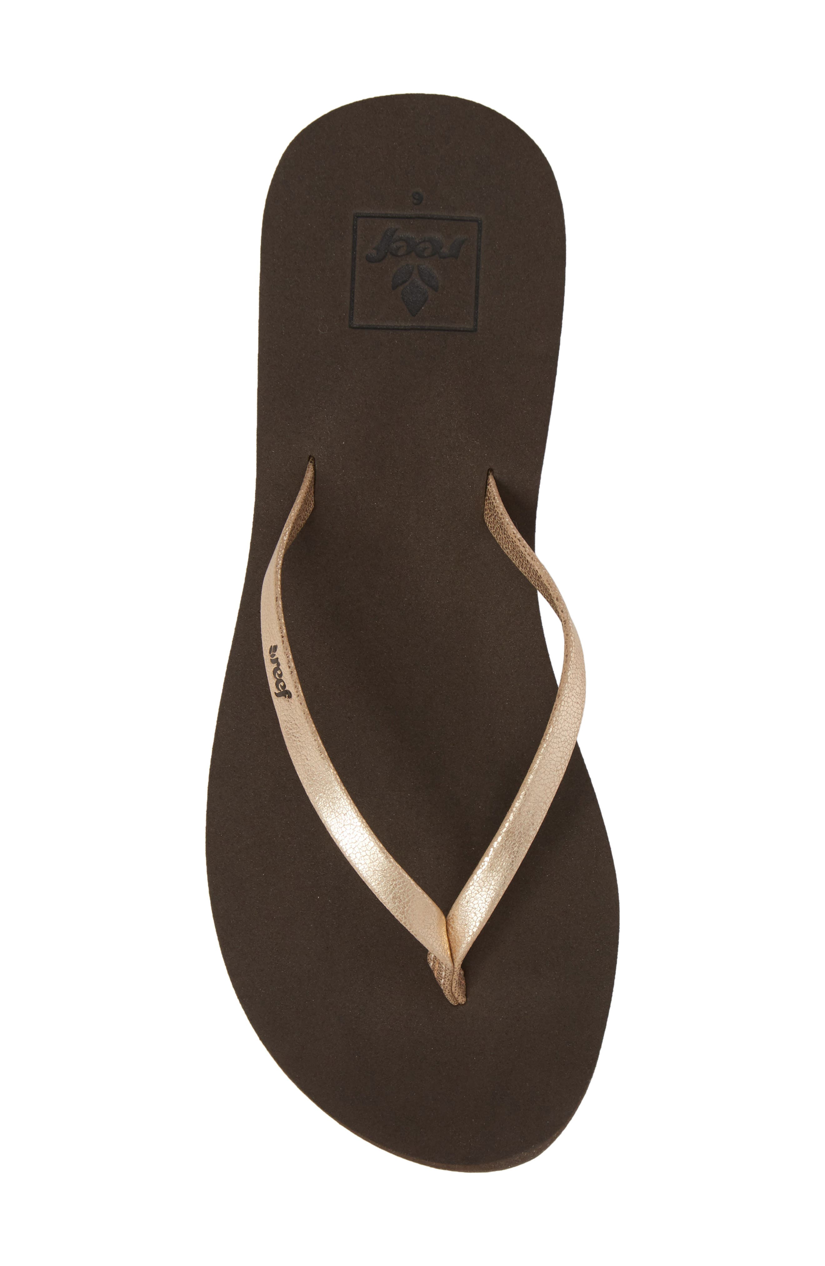 REEF, Bliss Nights Flip Flop, Alternate thumbnail 5, color, ROSE GOLD