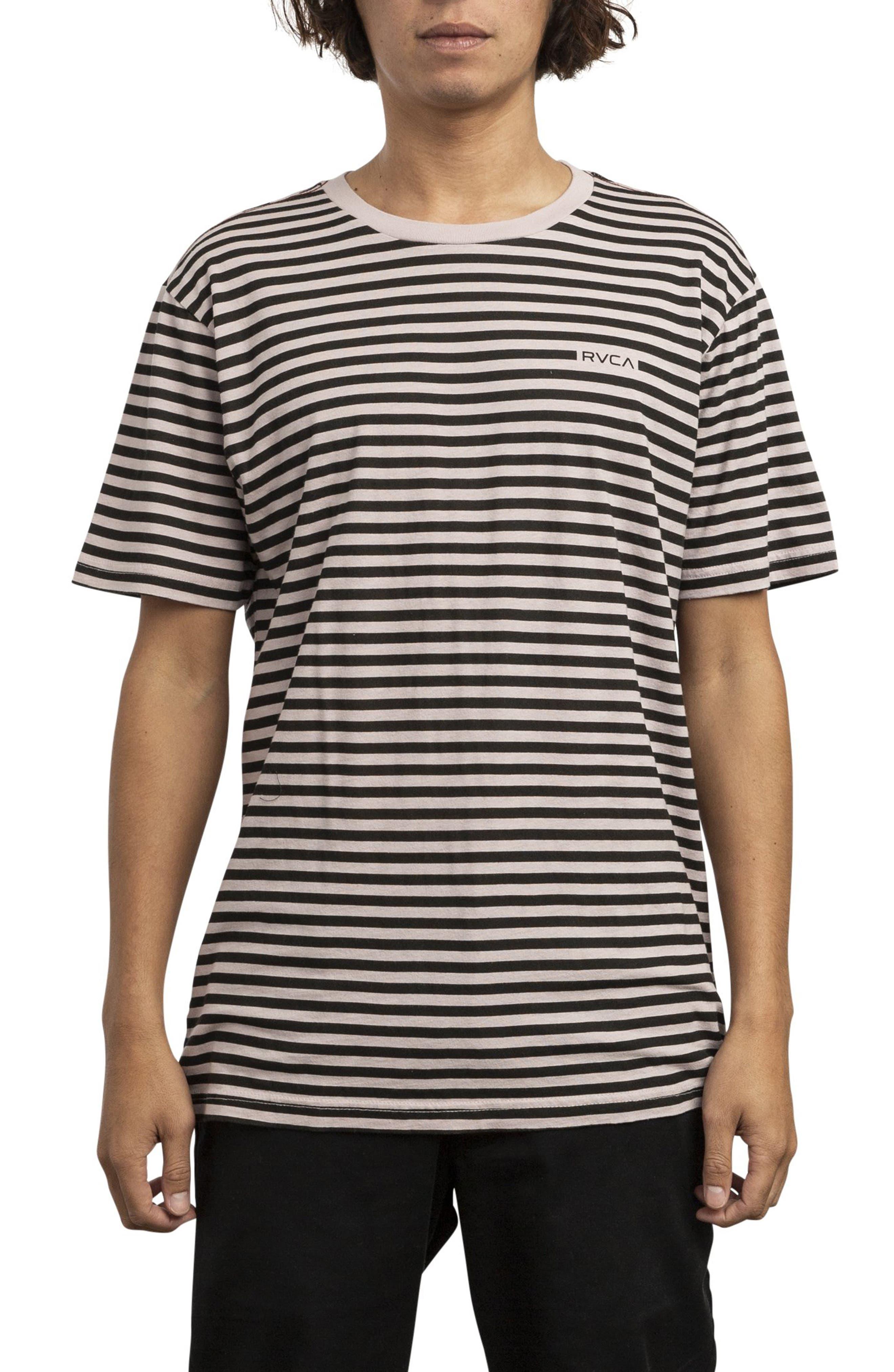 RVCA, House Stripe T-Shirt, Main thumbnail 1, color, DUSTY BLUSH