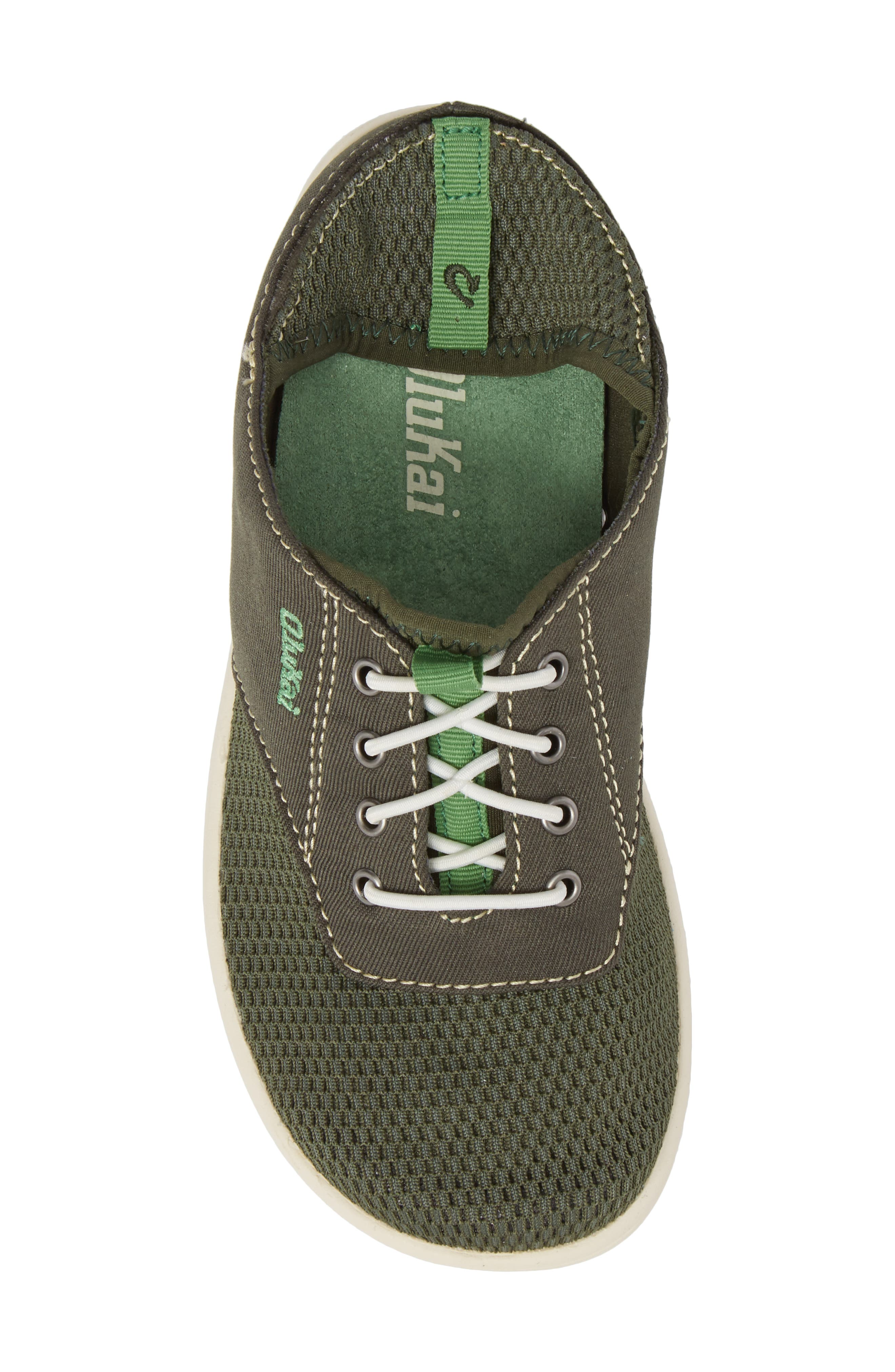 OLUKAI, Nohea Moku Water Resistant Shoe, Alternate thumbnail 6, color, SEA GRASS/ SEA GRASS