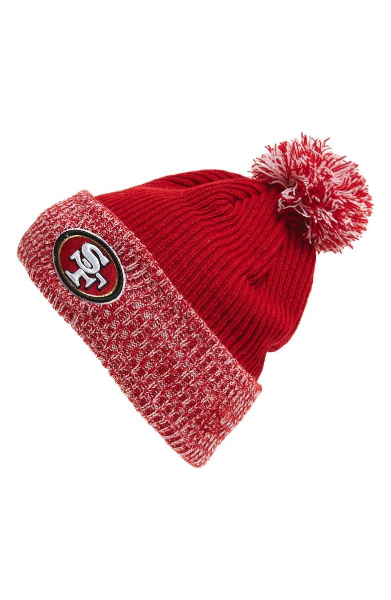 wholesale dealer c8206 ec340 NEW ERA CAP  Flurry Frost - NFL San Francisco 49ers  Pom Knit Cap,