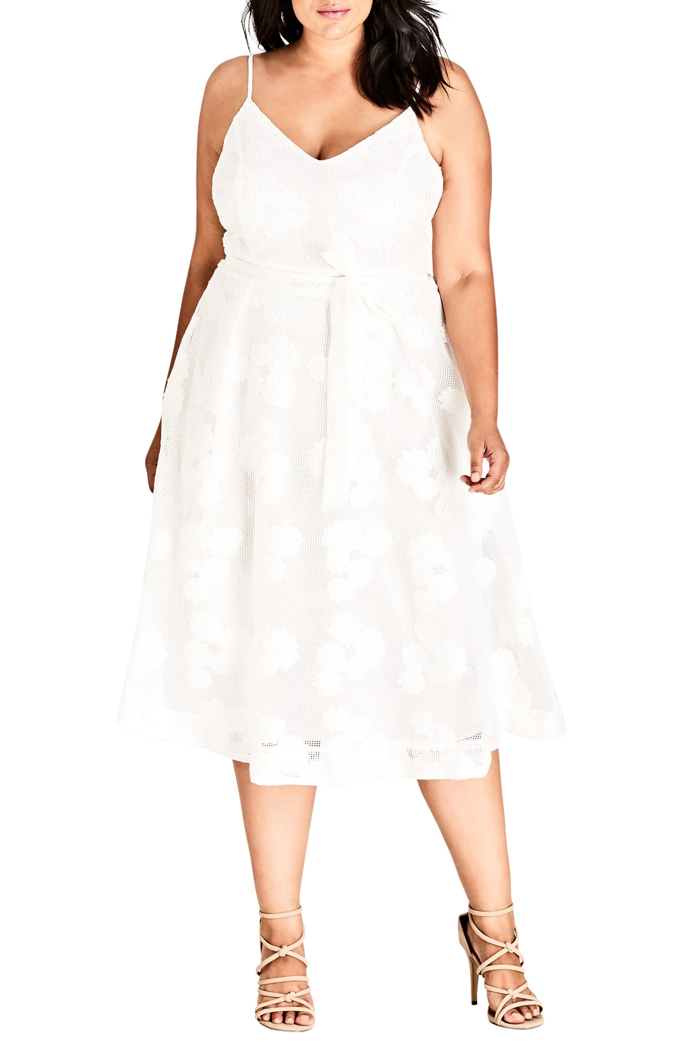 Plus Size City Chic Love Fling Dress, Ivory