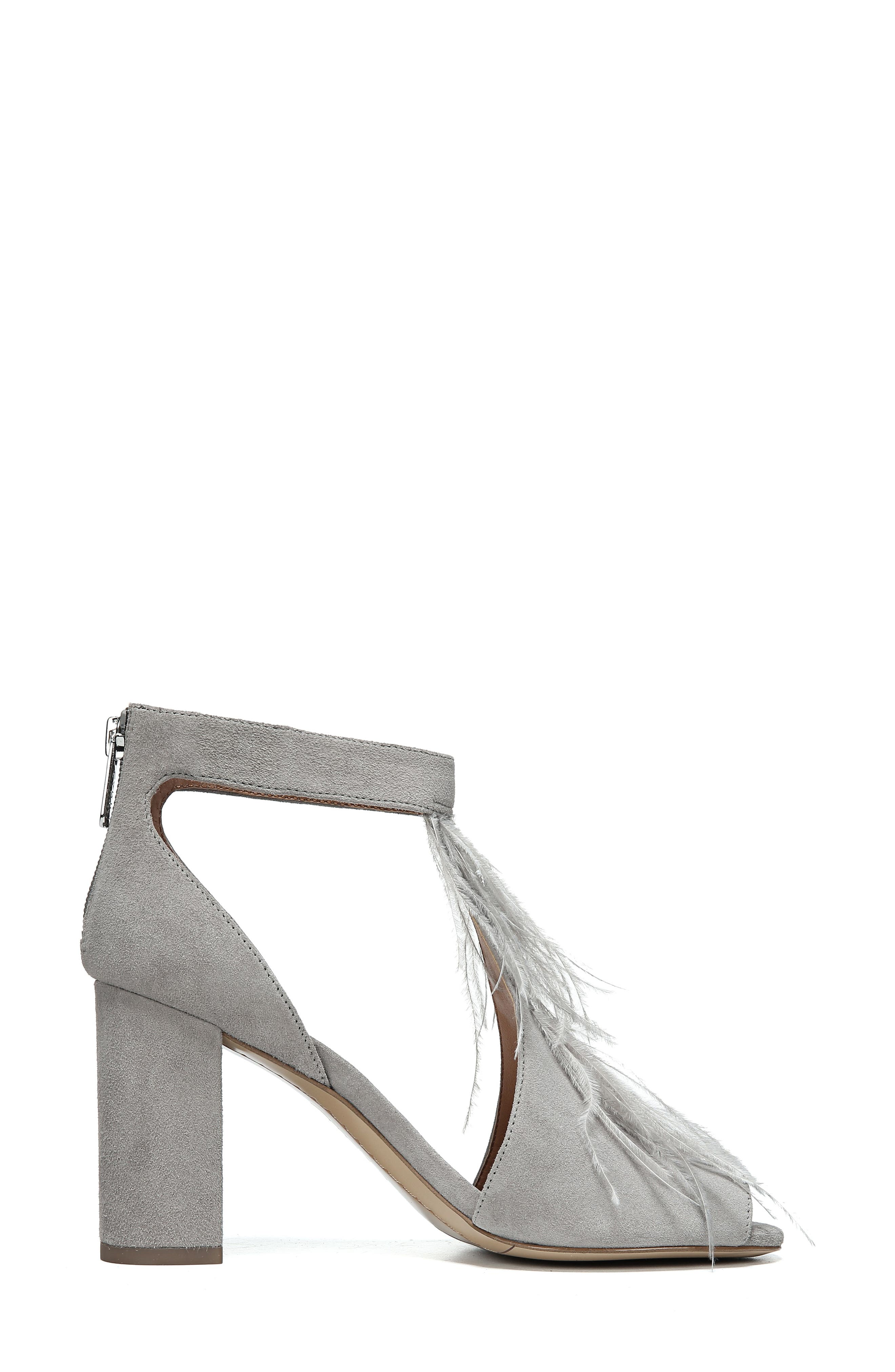 SARTO BY FRANCO SARTO, Olivette Sandal, Alternate thumbnail 3, color, GREYSTONE LEATHER