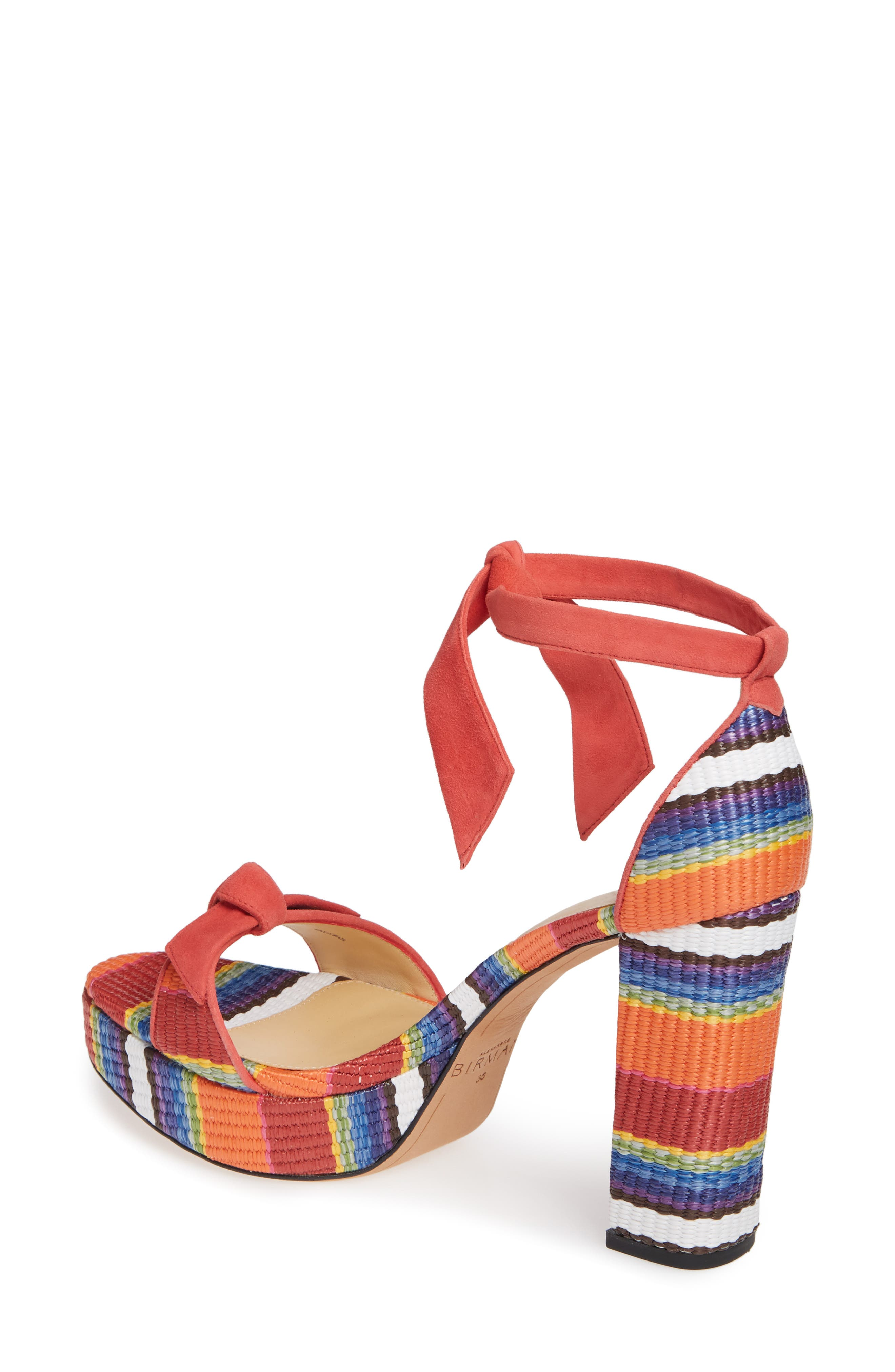 ALEXANDRE BIRMAN, Clarita Platform Sandal, Alternate thumbnail 2, color, CORAL MULTI