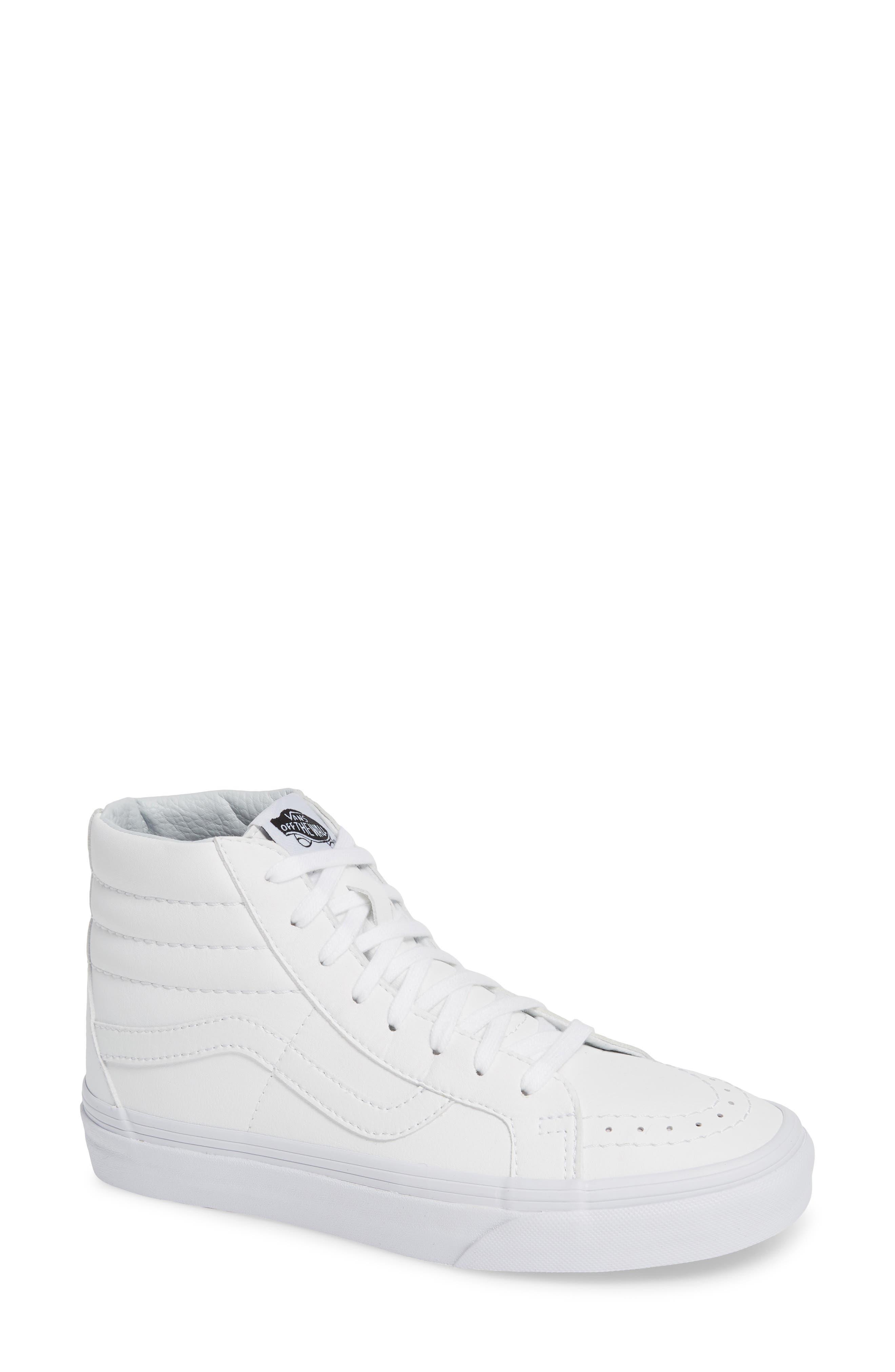 VANS, 'Sk8-Hi Reissue' Sneaker, Main thumbnail 1, color, TRUE WHITE