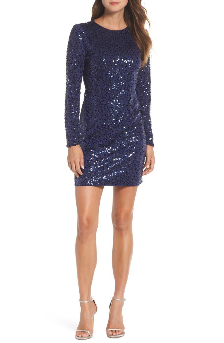 5ec765f4 VINCE CAMUTO Sequin Sheath Dress, Main, color, 410