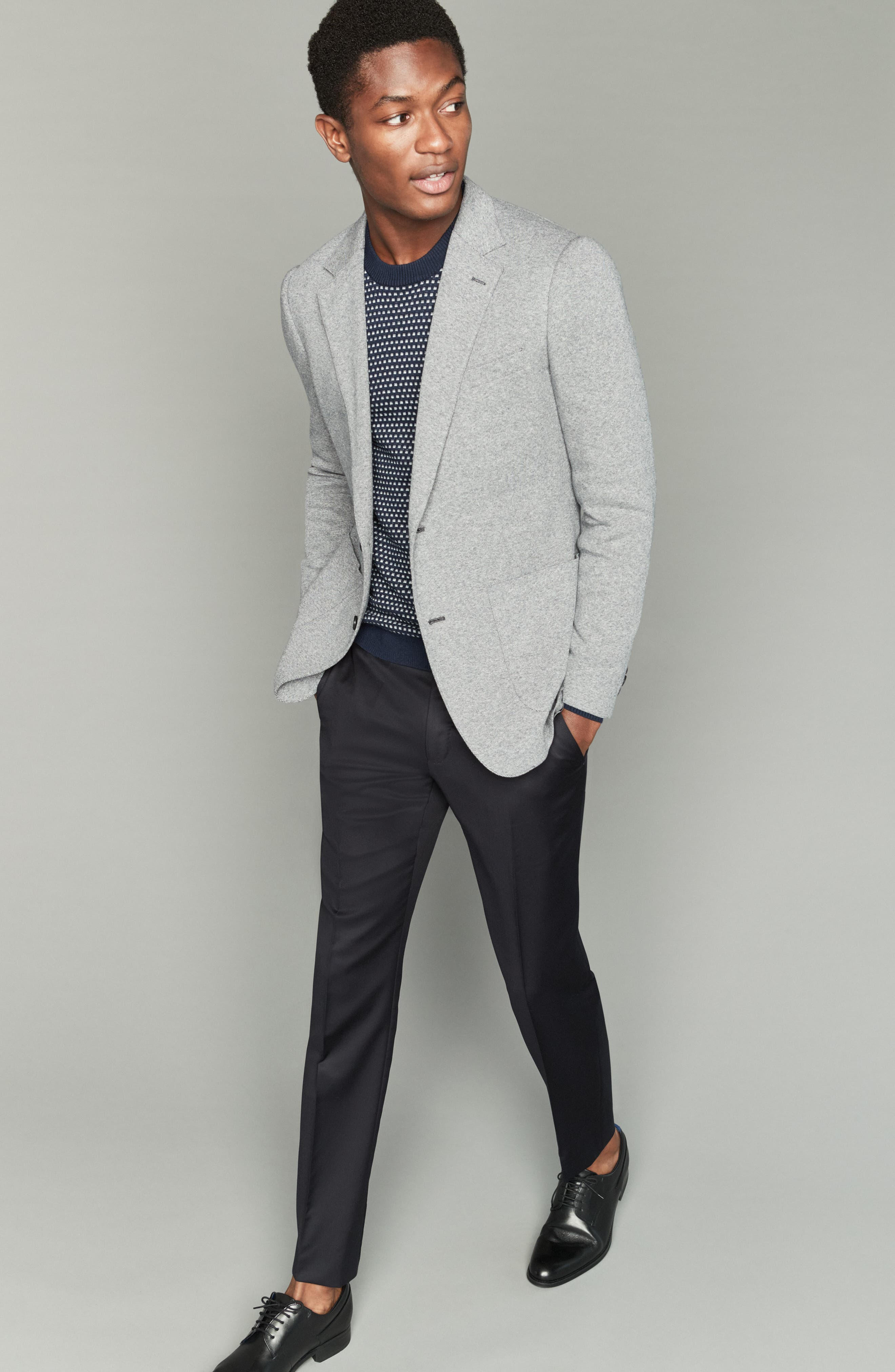 BONOBOS, Jetsetter Slim Fit Knit Cotton Sport Coat, Alternate thumbnail 9, color, LIGHT GREY