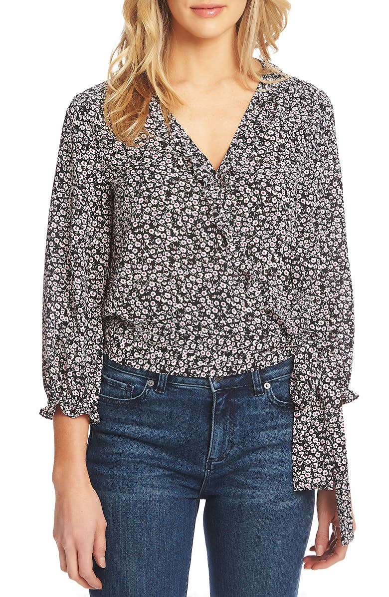 1.state Tops WILDFLOWER RUFFLE DETAIL TOP