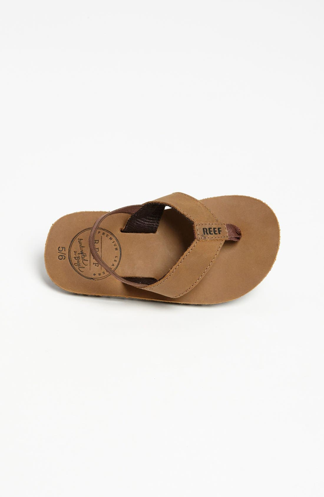 REEF, 'Grom' Leather Flip-Flop, Alternate thumbnail 3, color, BRONZE BROWN