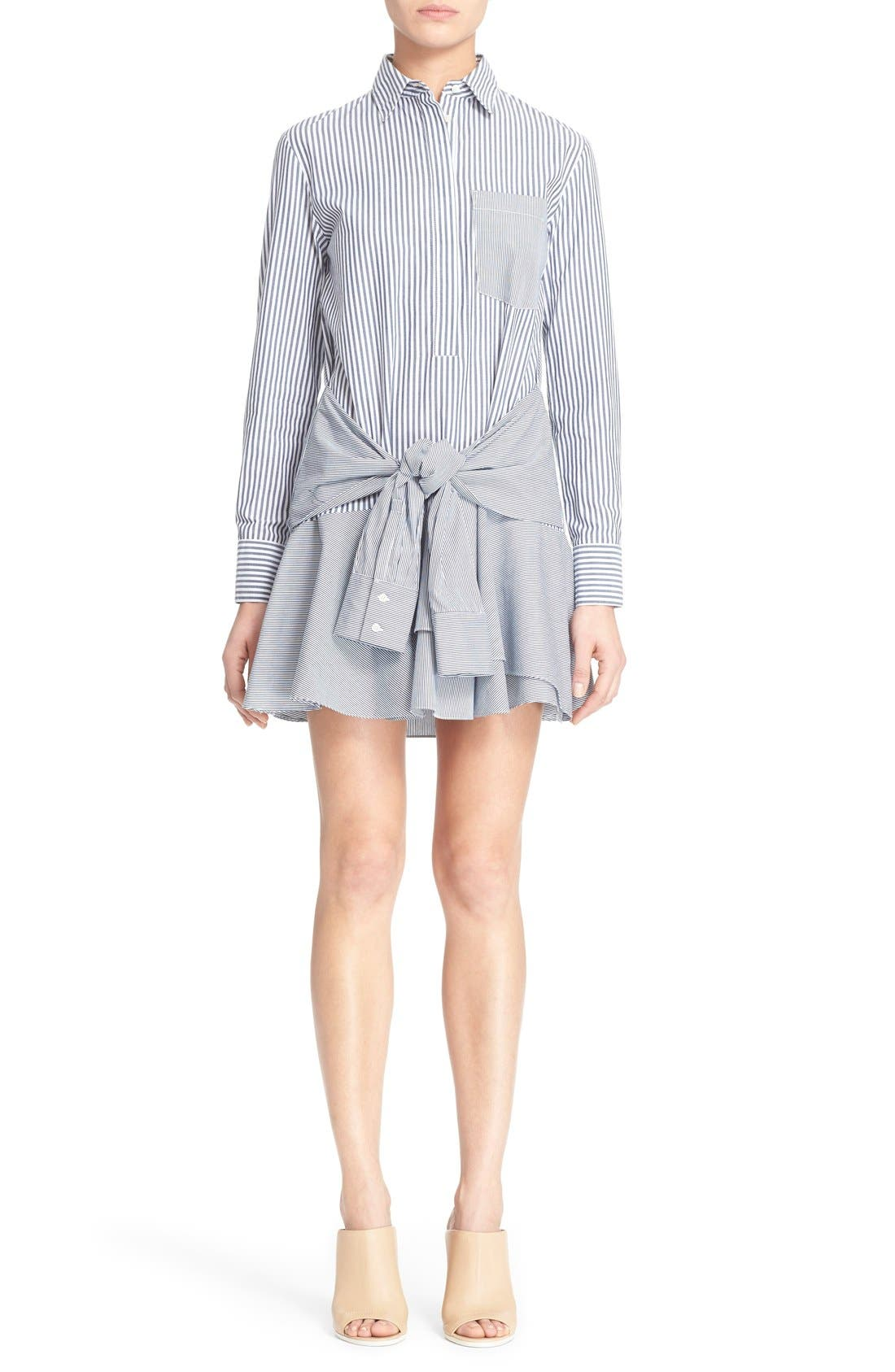 DEREK LAM 10 CROSBY Tie Waist Shirtdress, Main, color, 419