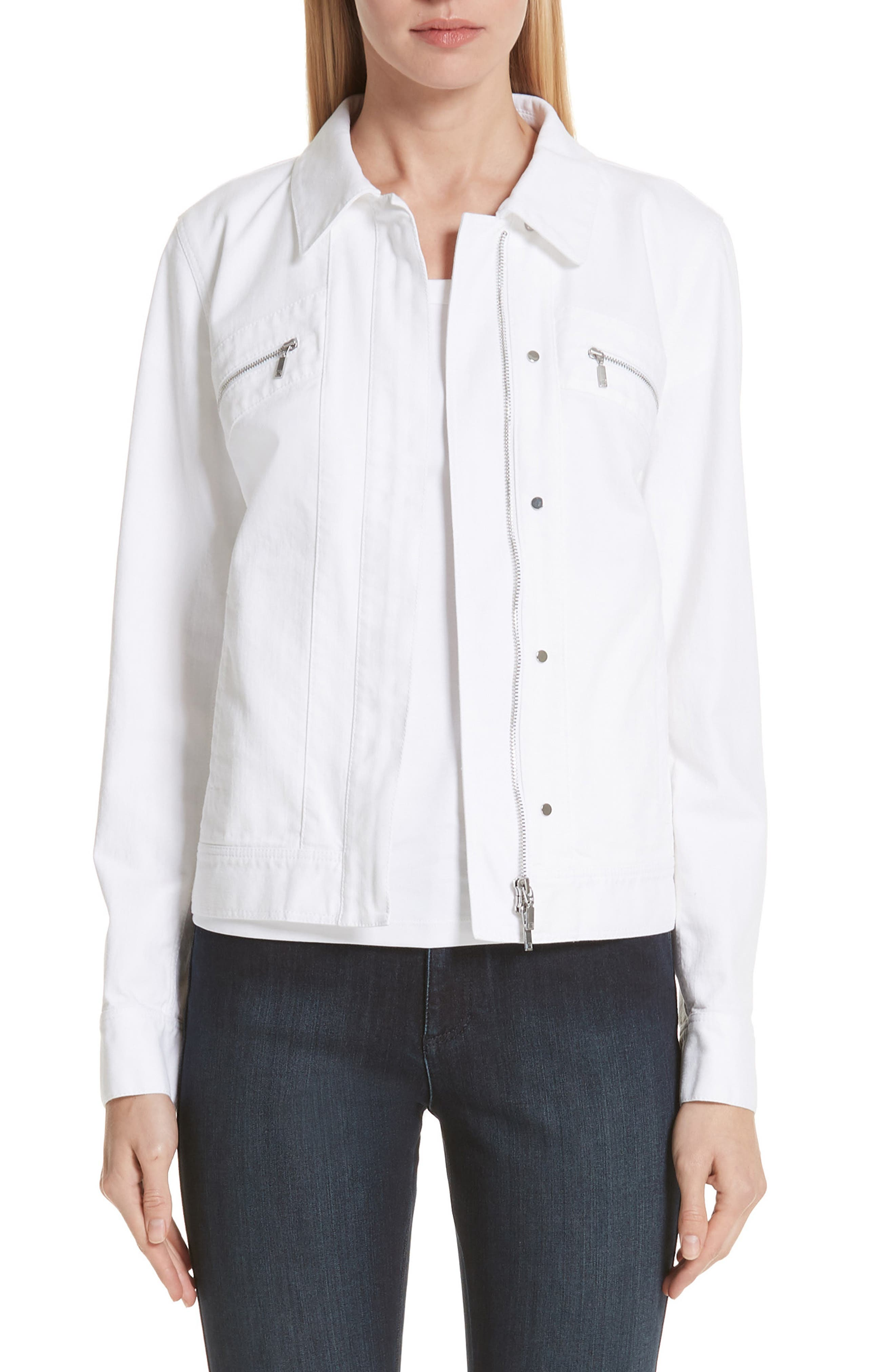 LAFAYETTE 148 NEW YORK Kesha Denim Jacket, Main, color, 100