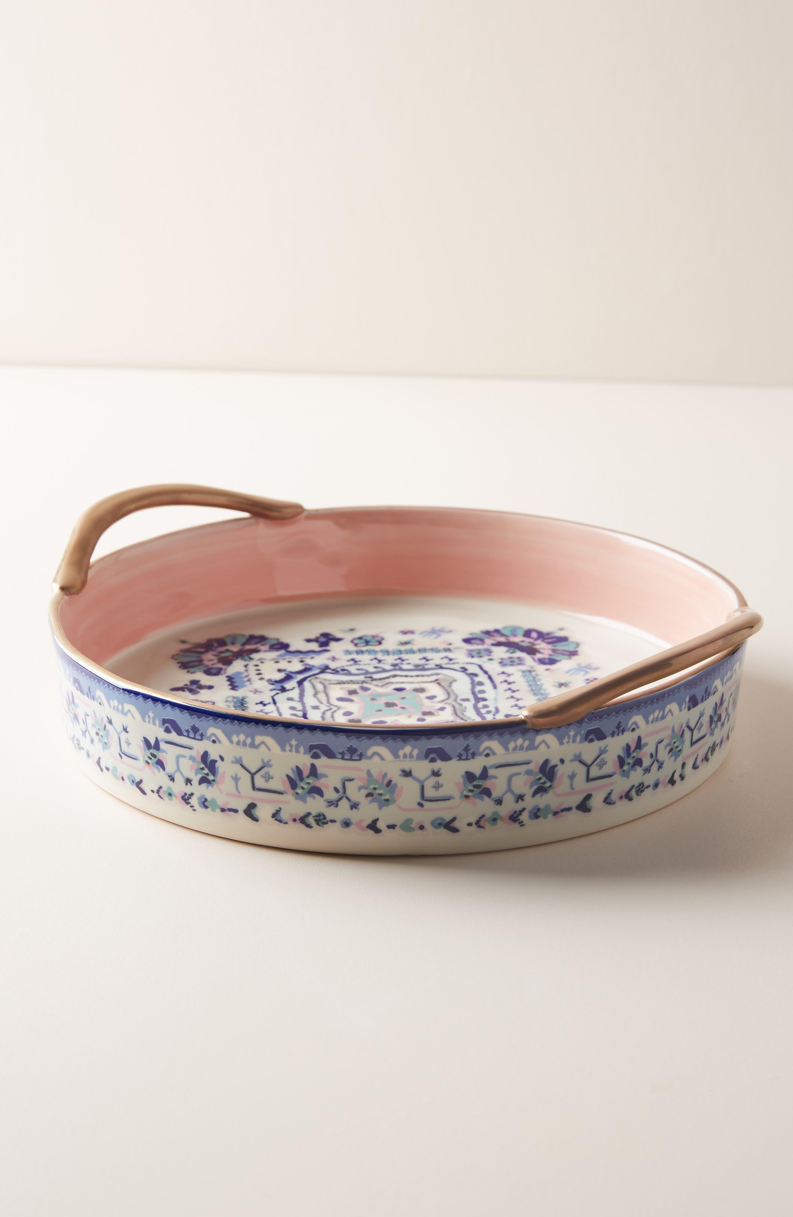 ANTHROPOLOGIE Lilia Pie Dish, Main, color, BLUE