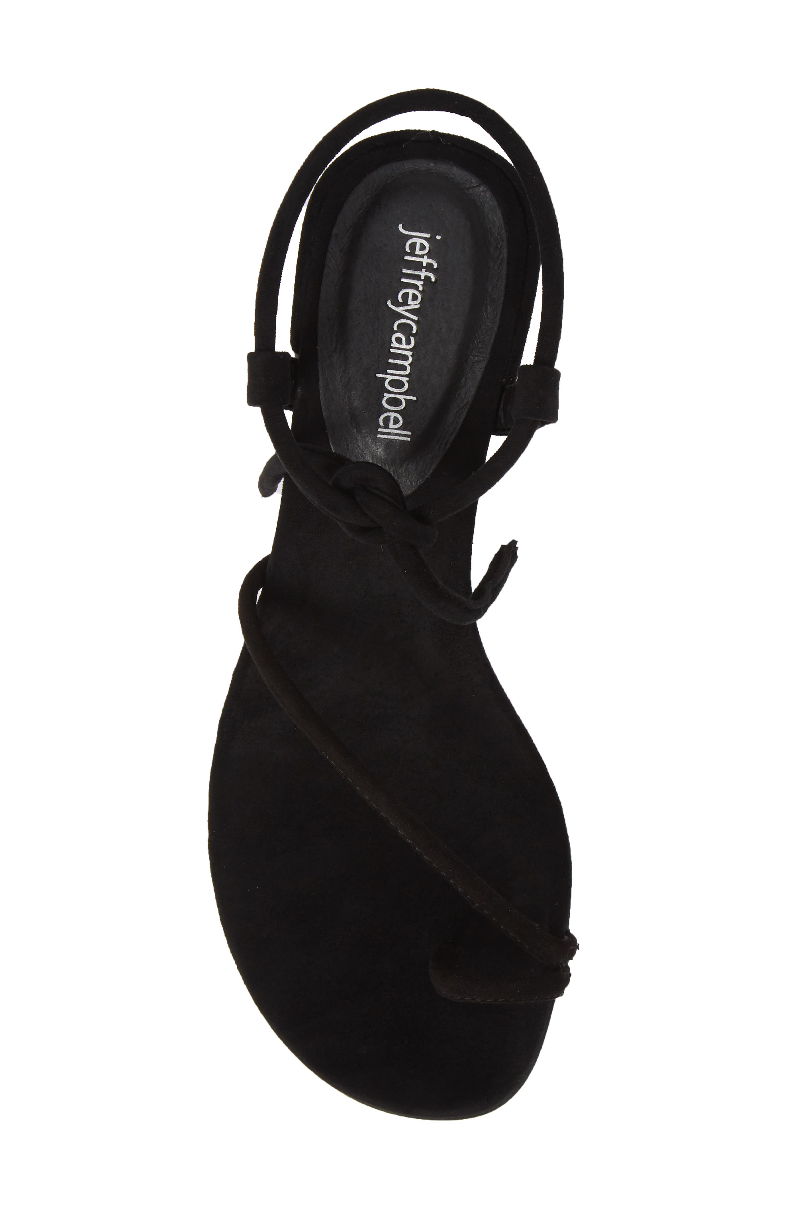 JEFFREY CAMPBELL, Strappy Sandal, Alternate thumbnail 5, color, 005
