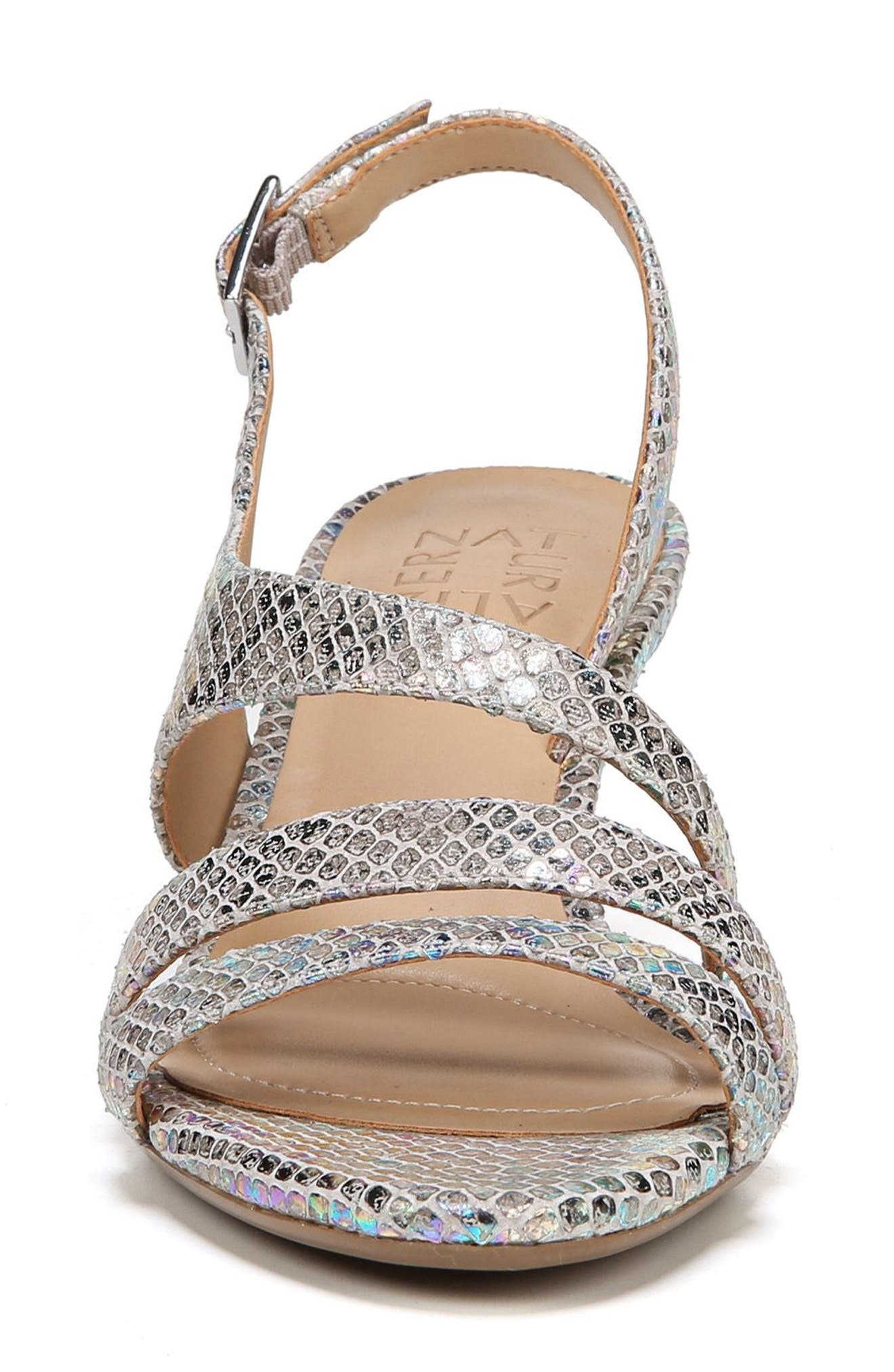 NATURALIZER, Taimi Sandal, Alternate thumbnail 4, color, SILVER SNAKE LEATHER PRINT