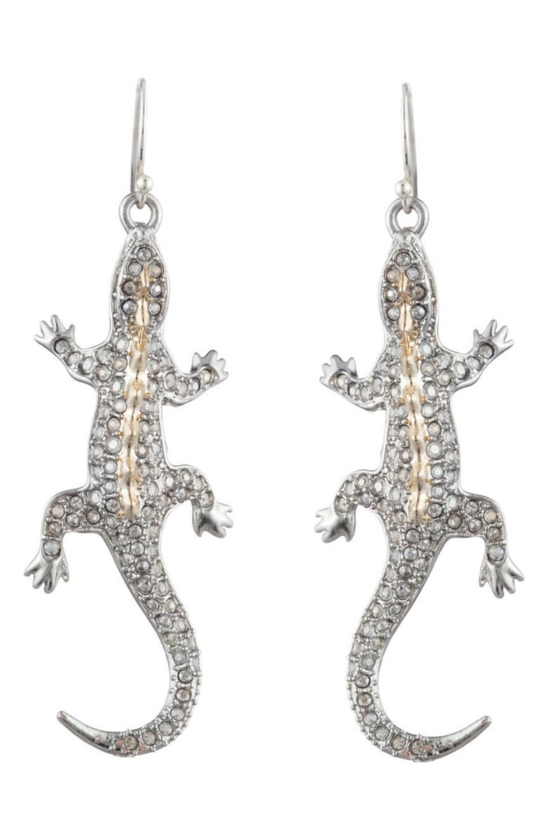 Alexis Bittar Accessories PAVE LIZARD DROP EARRINGS