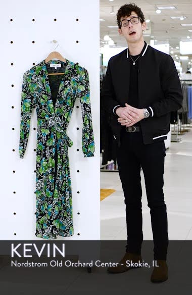 Phoenix Floral Print Wrap Dress, sales video thumbnail