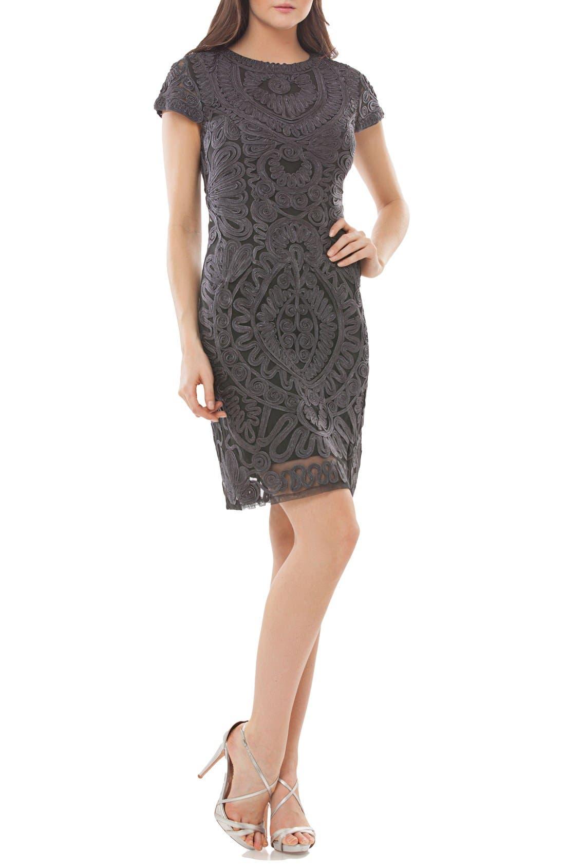 Js Collections Soutache Dress, Grey