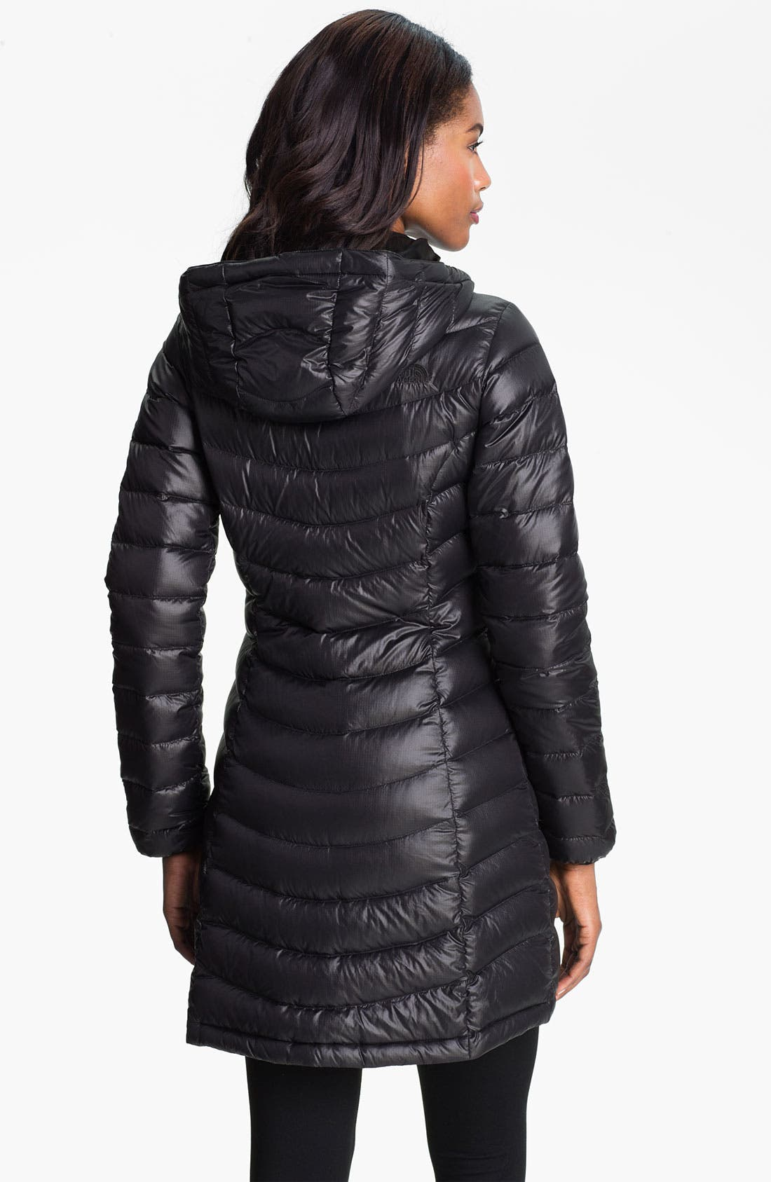 THE NORTH FACE, 'Jenae' Hooded Down Jacket, Alternate thumbnail 2, color, 001